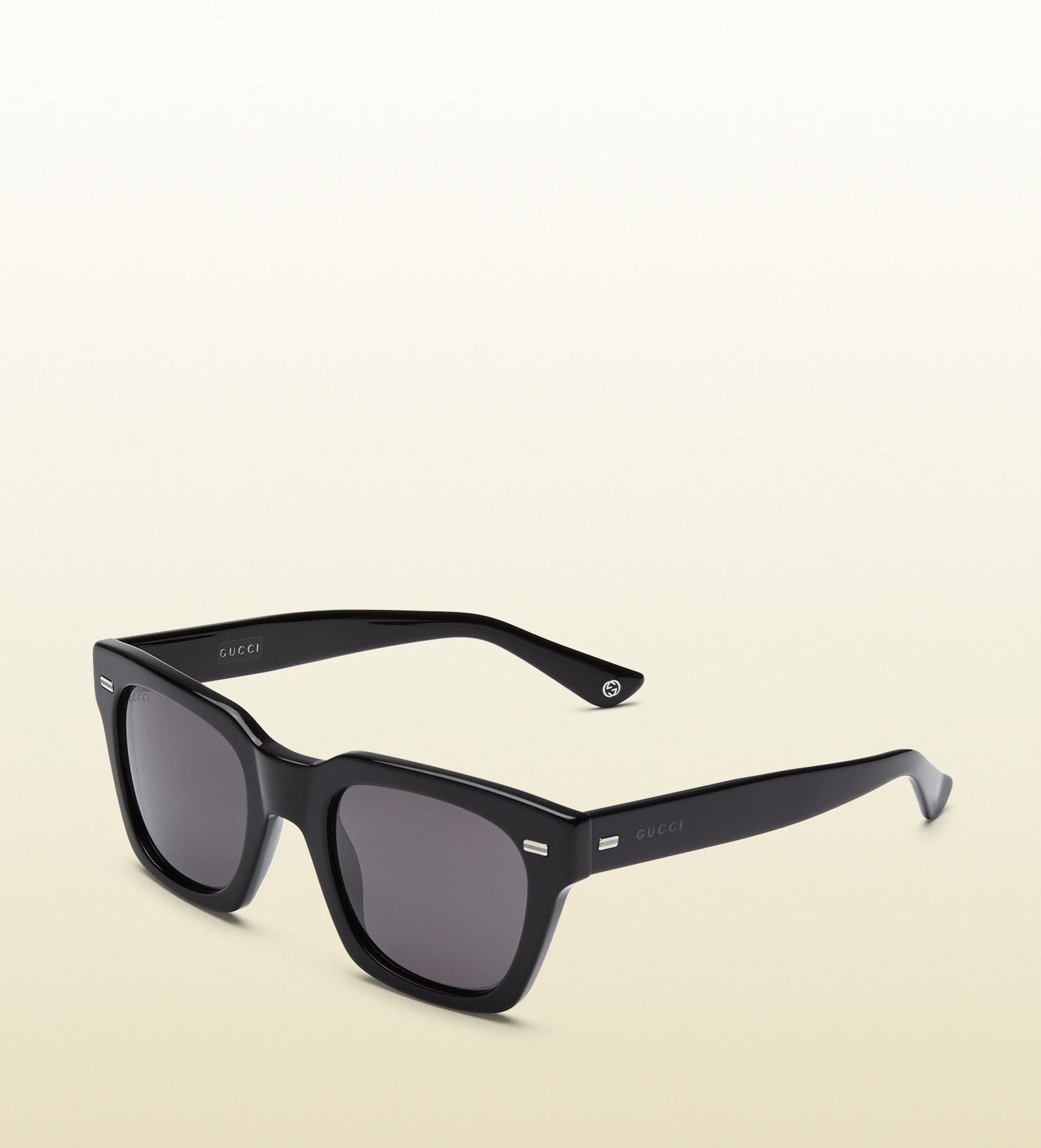 Lyst - Gucci Havana Acetate Square-frame Sunglasses in Black for Men