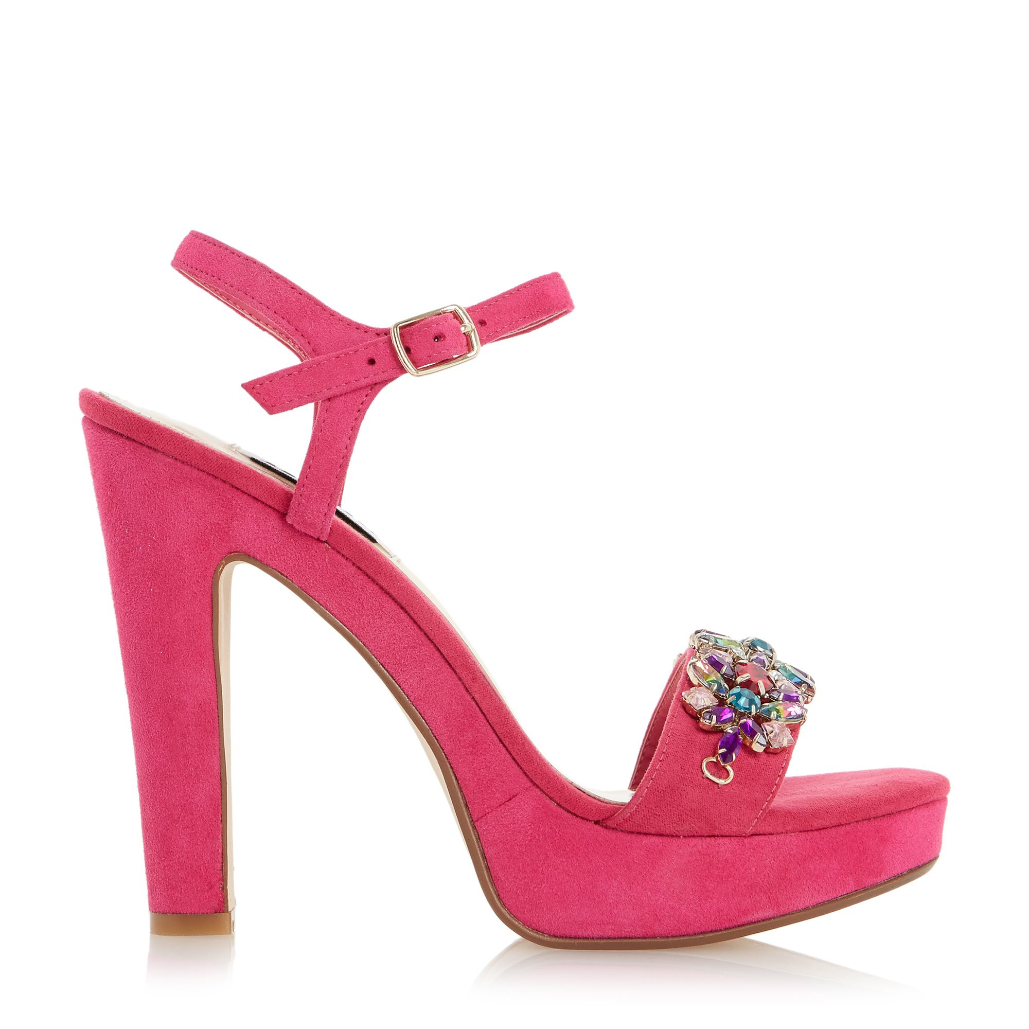 dune meghan suede two part trim sandals in pink lyst