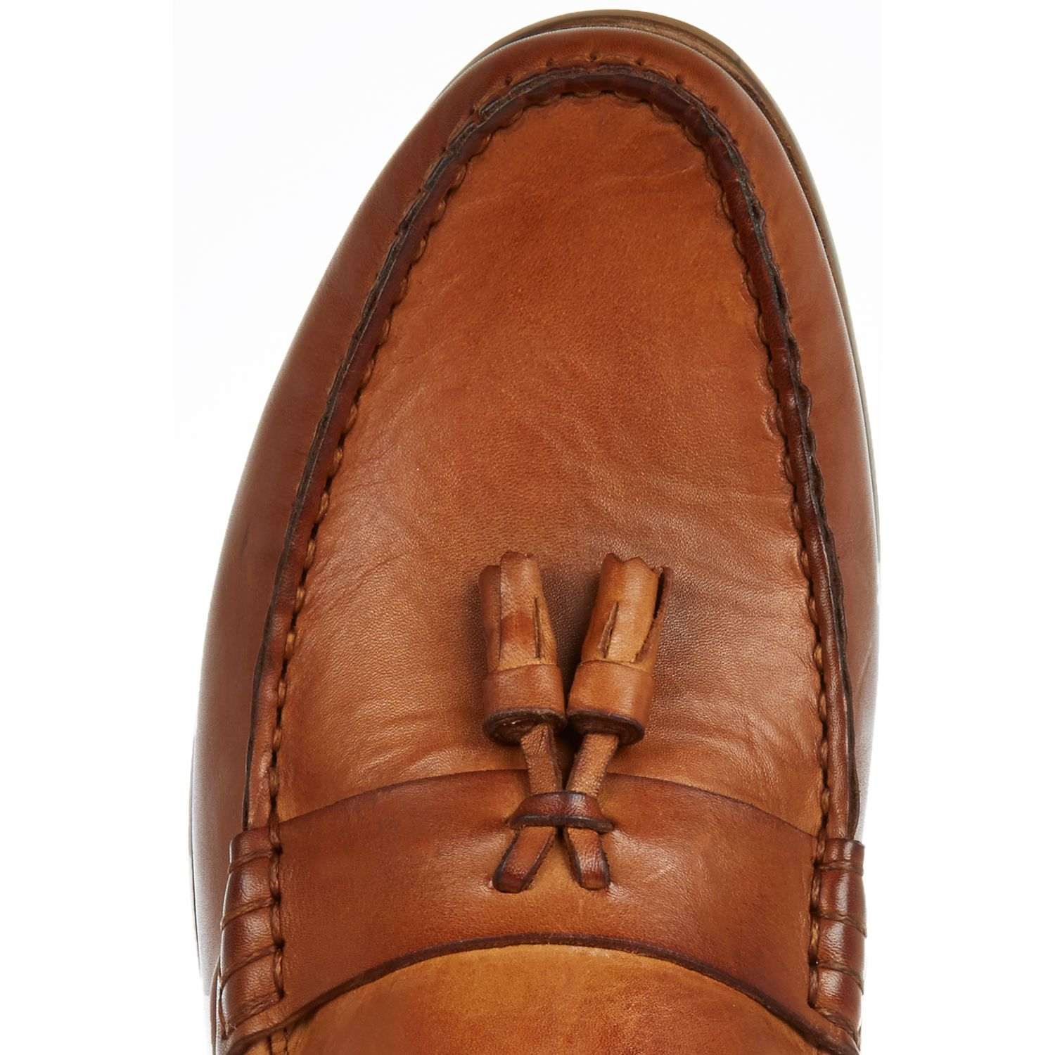 Lyst River Island Tan Brown Leather Tassel Loafers In For Men D Shoes Slip On Mocasine Casual Gallery