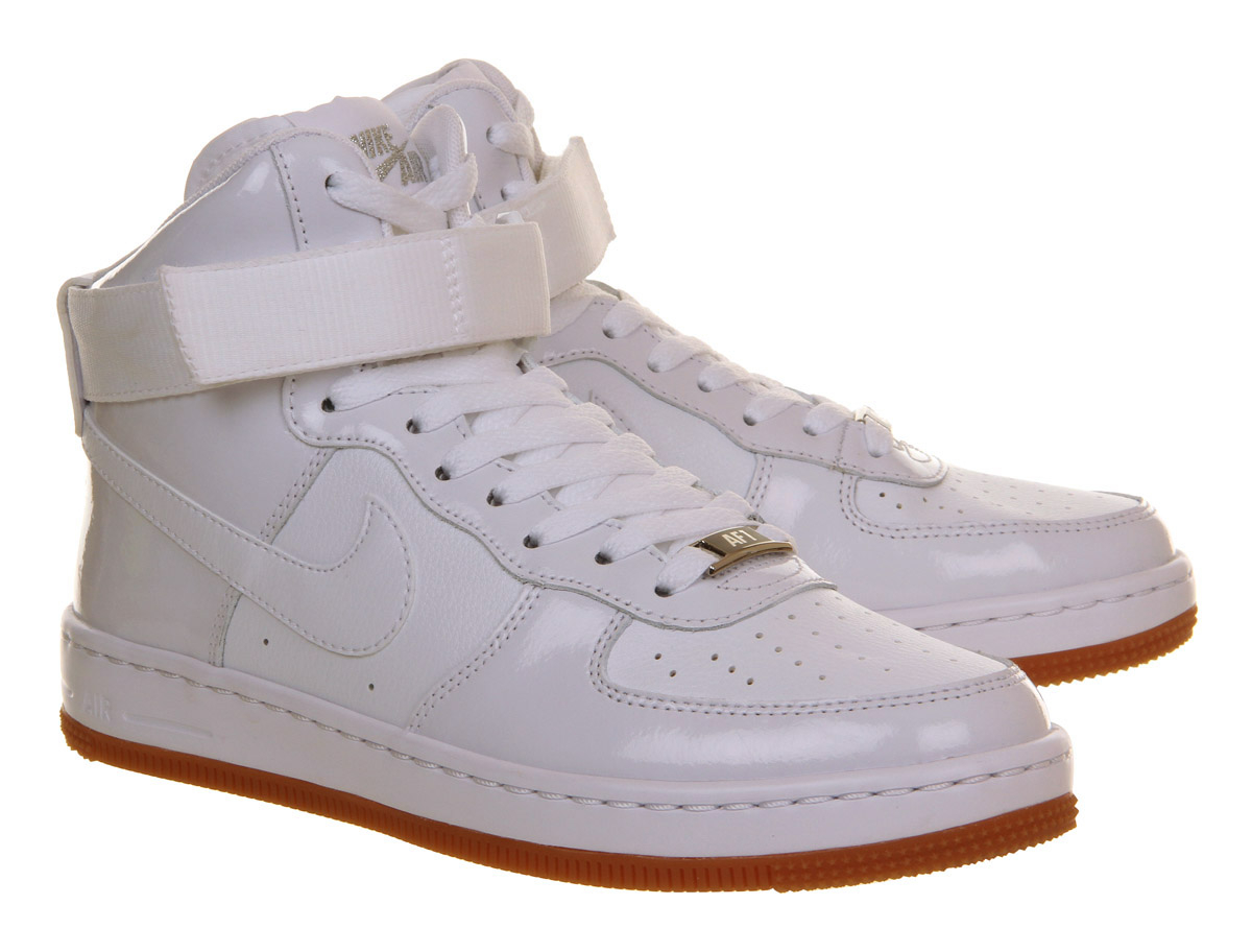 lyst nike air force 1 airness mid in white. Black Bedroom Furniture Sets. Home Design Ideas