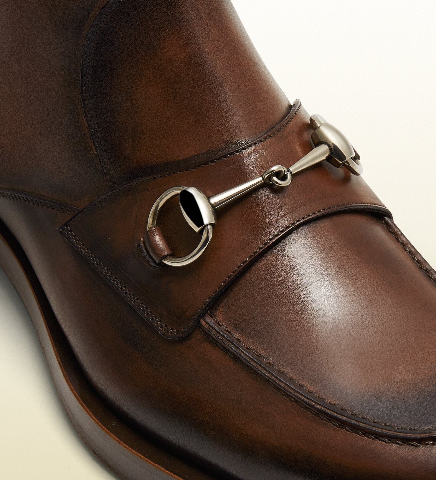 Lyst Gucci Leather Horsebit Boot In Brown For Men