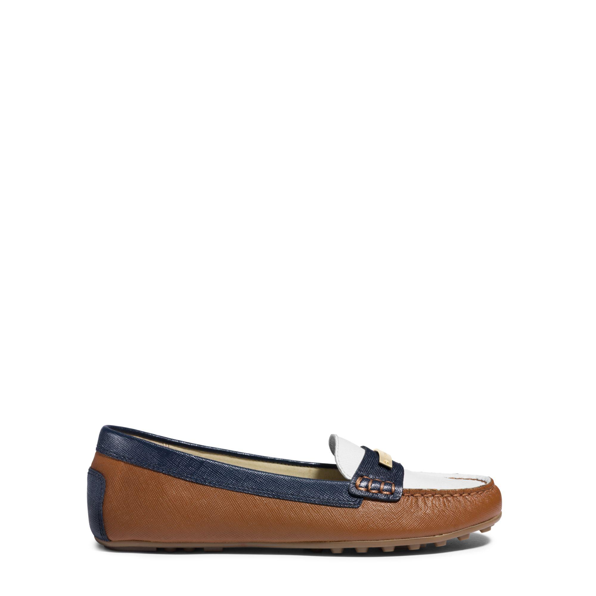 c1e52b1f2b9 Lyst - Michael Kors Everett Saffiano Leather Loafer in Blue