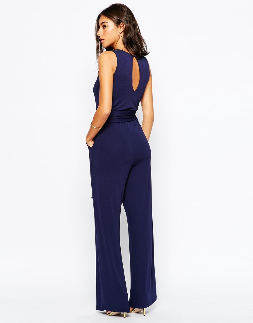 Images of Navy Blue Jumpsuit - Reikian