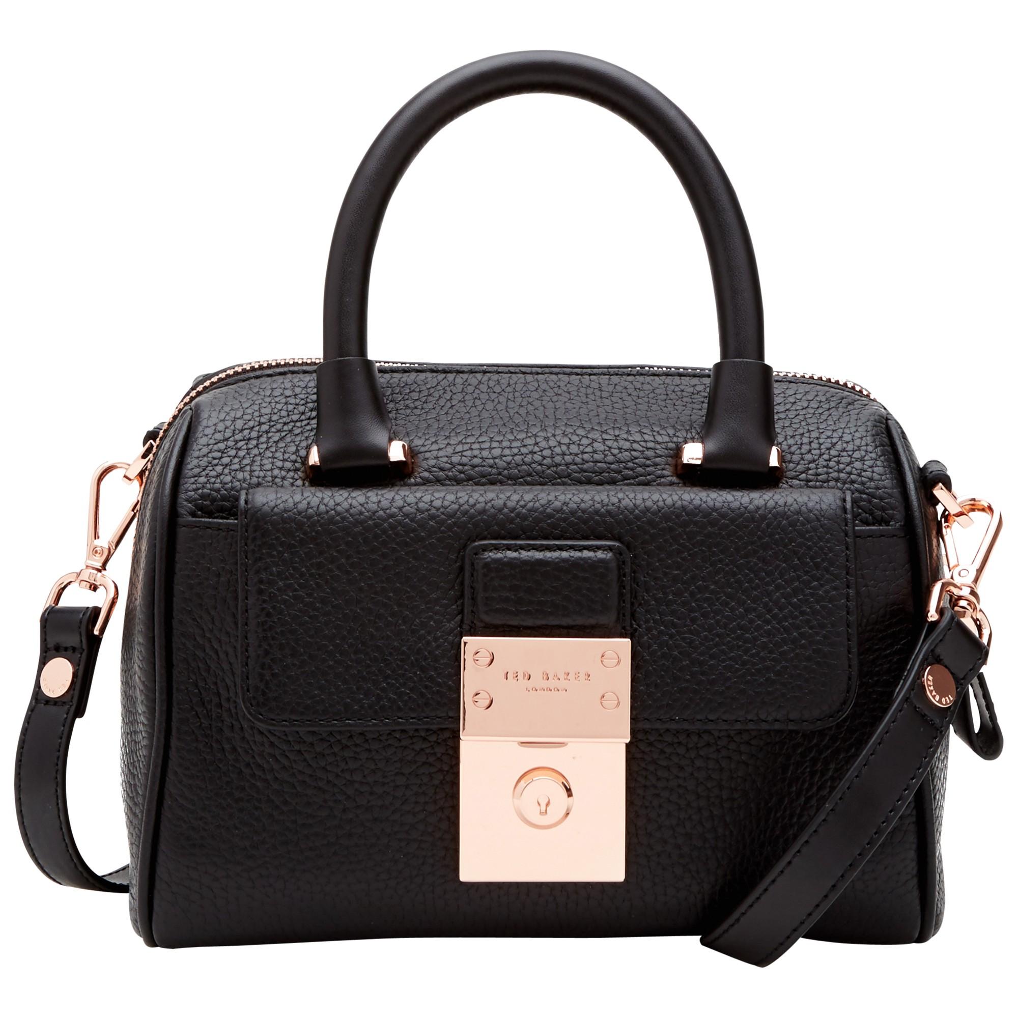 ted baker emilya leather mini duffle bag in black lyst. Black Bedroom Furniture Sets. Home Design Ideas