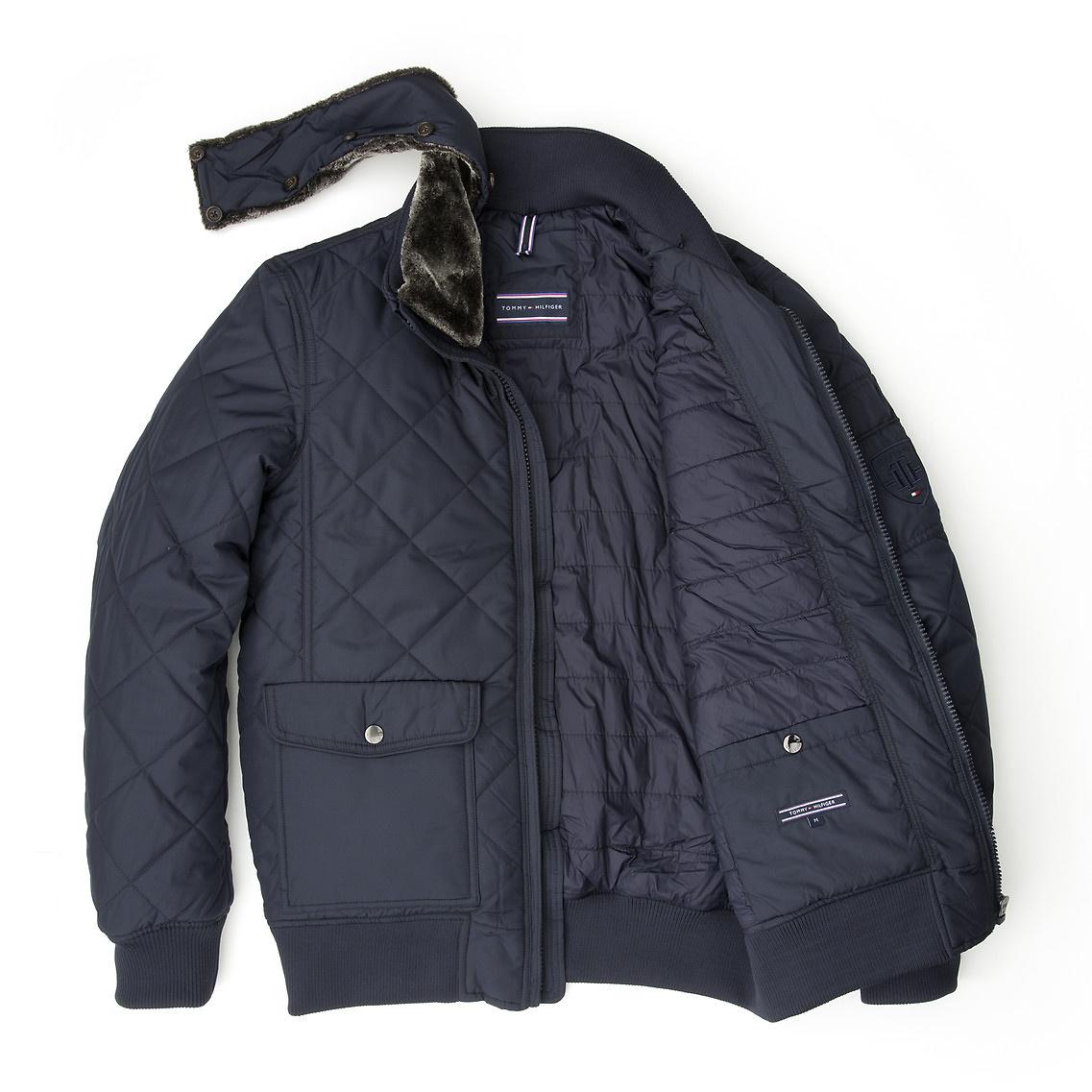tommy hilfiger brad bomber jacket in blue for men lyst. Black Bedroom Furniture Sets. Home Design Ideas