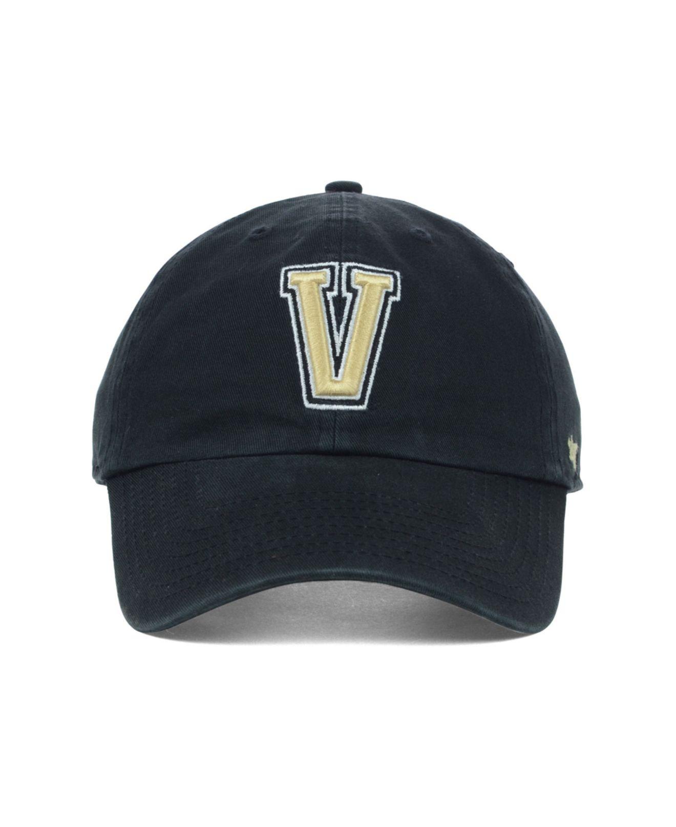 Lyst - 47 Brand Vanderbilt Commodores Clean-Up Cap in Black for Men ee549659882c