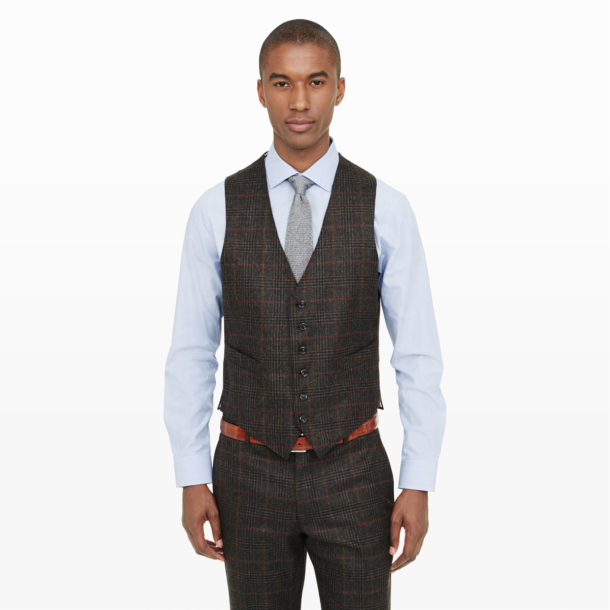 Club monaco Made In The Usa Suit Vest in Brown for Men | Lyst