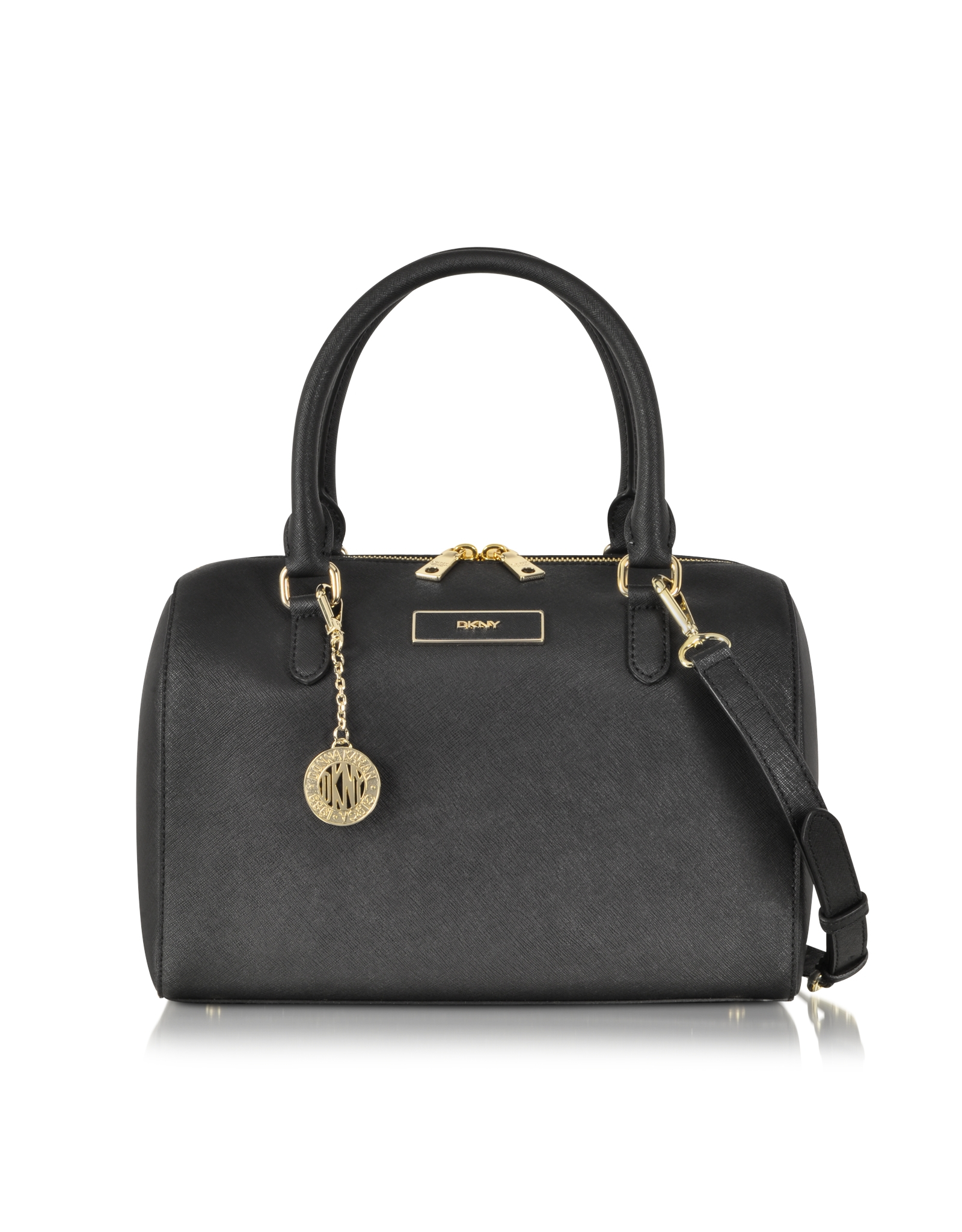 Dkny Bryant Park Saffiano Leather Satchel Bag in Black | Lyst