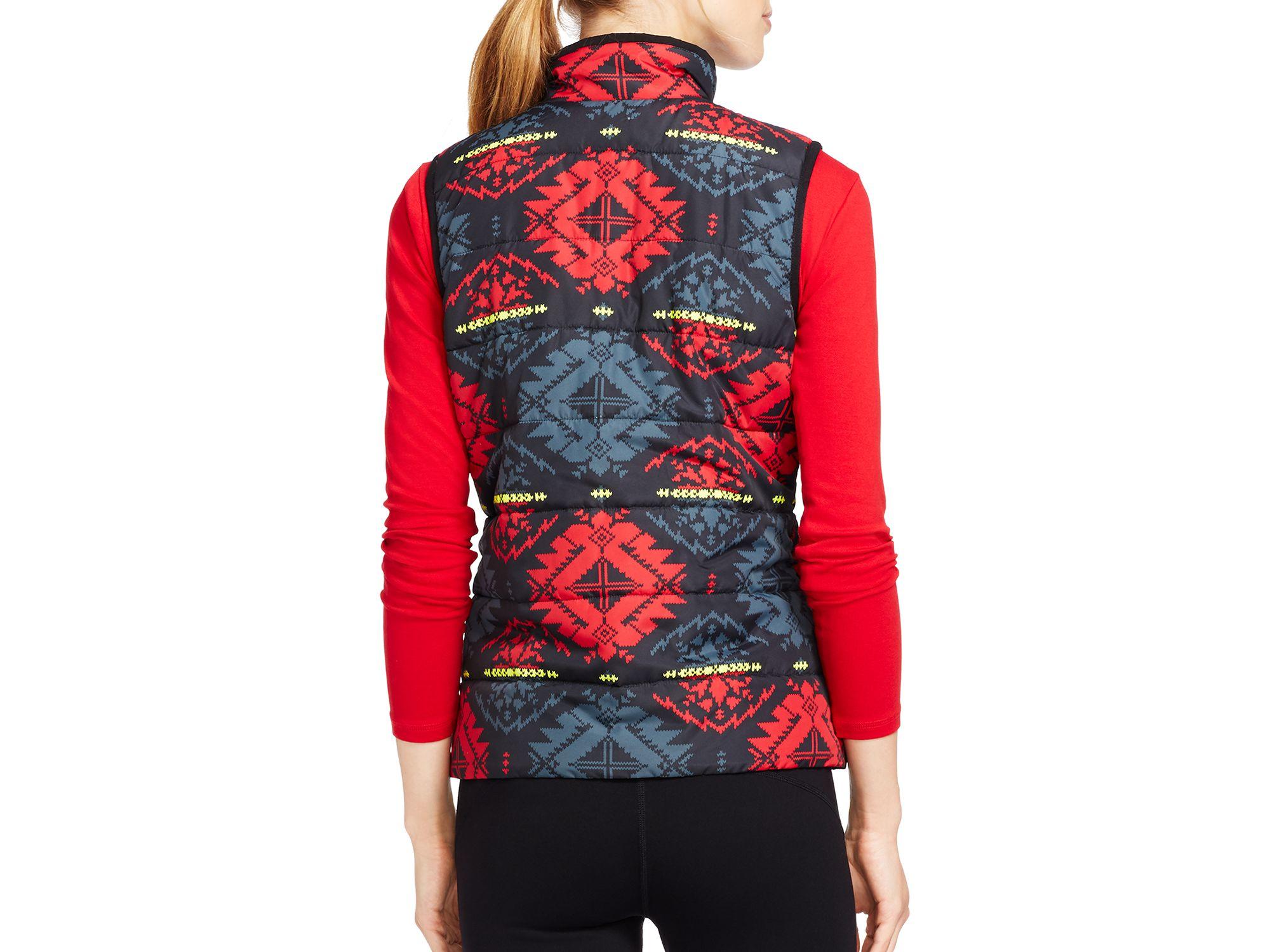 Ralph Lauren Lauren Printed Puffer Vest Lyst