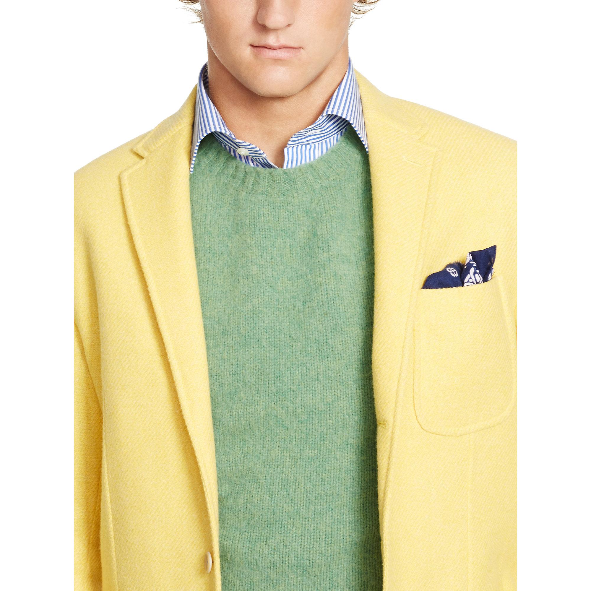 Lyst Polo Ralph Lauren Morgan Yellow Twill Sport Coat In