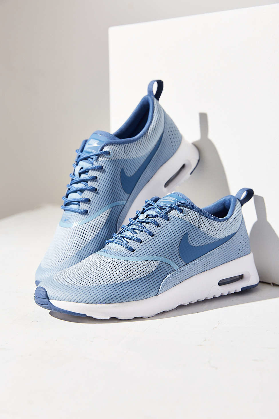 lyst nike air max thea textile sneaker in blue. Black Bedroom Furniture Sets. Home Design Ideas