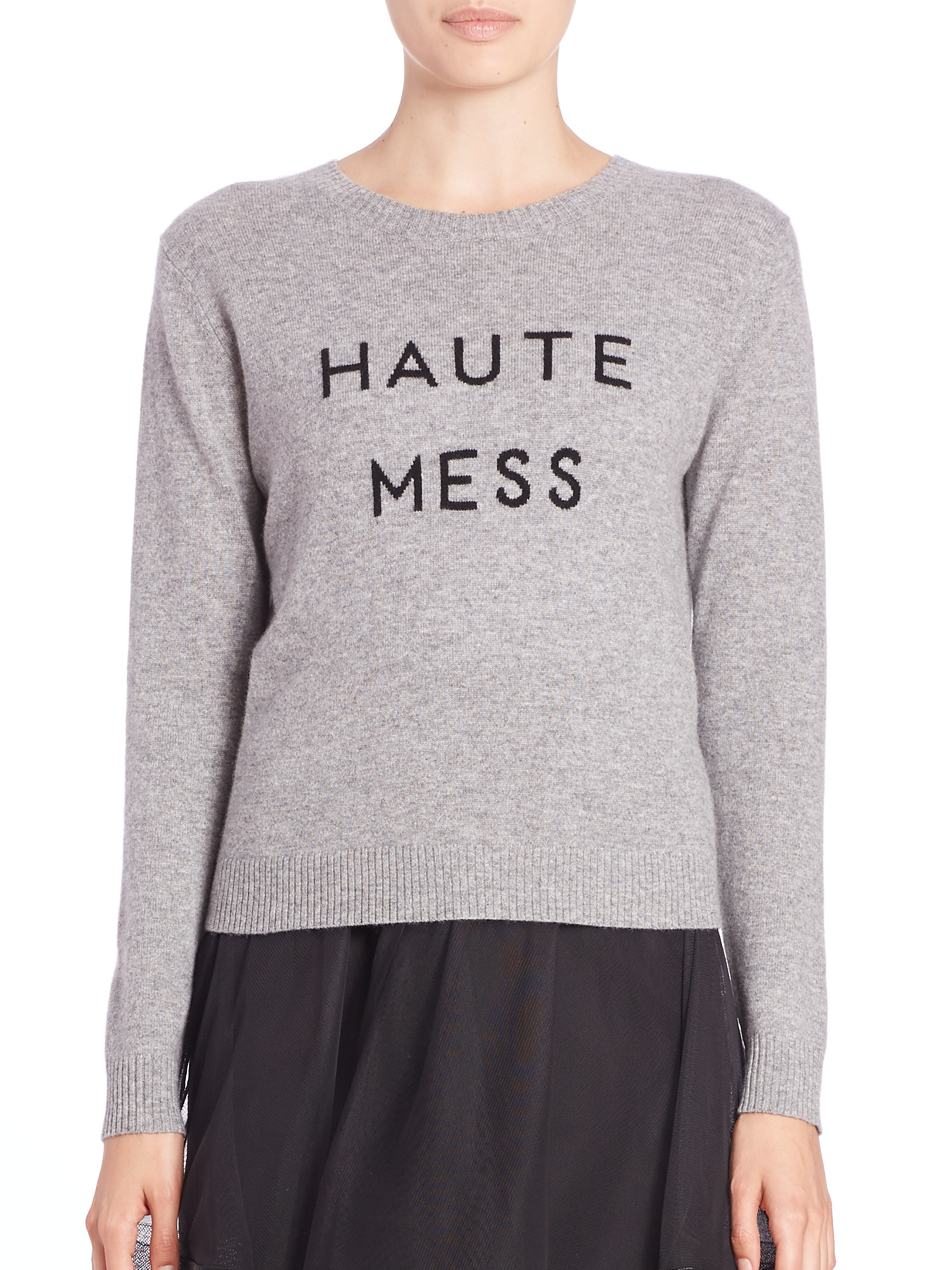 Milly Haute Mess Cashmere Sweater in Gray | Lyst