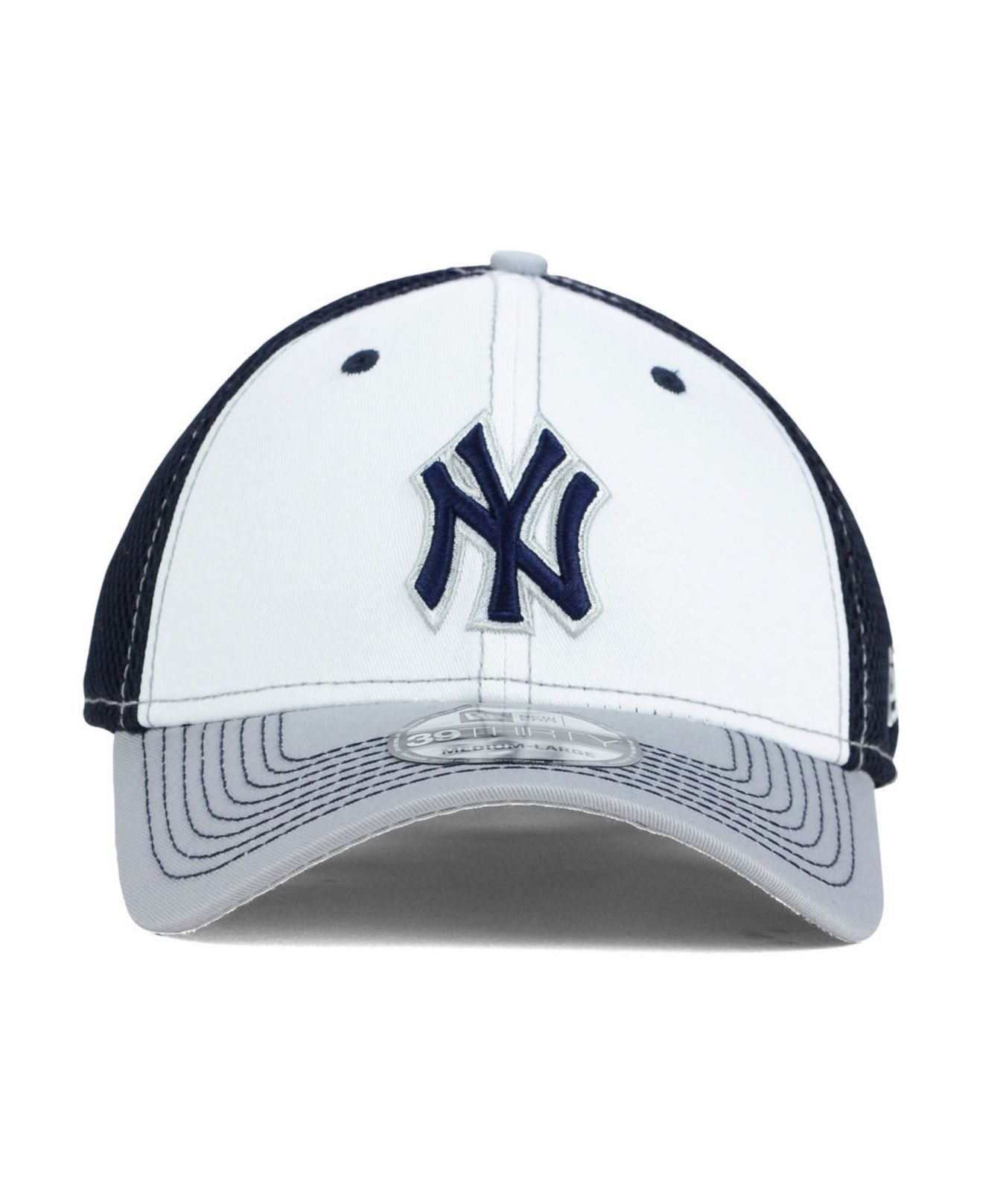 27be023e9 ... new style lyst ktz new york yankees neo 39thirty cap in blue for men  eddac b15d3