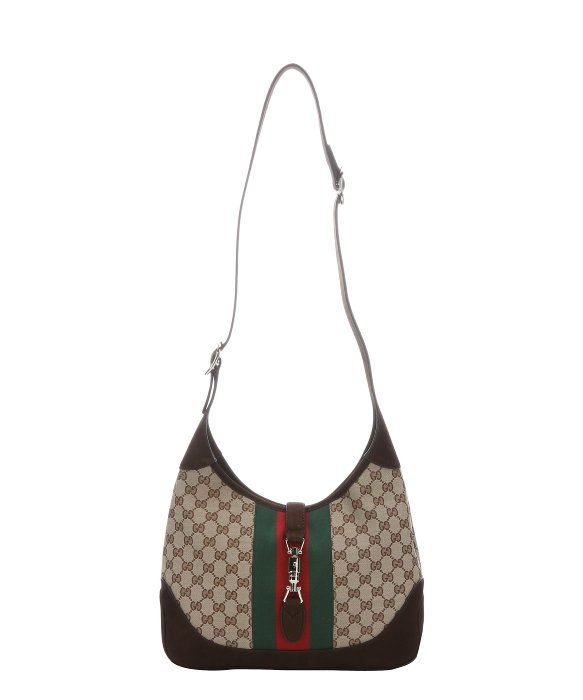 Gucci Beige Gg Canvas And Brown Suede 'jackie' Hobo Shoulder Bag ...