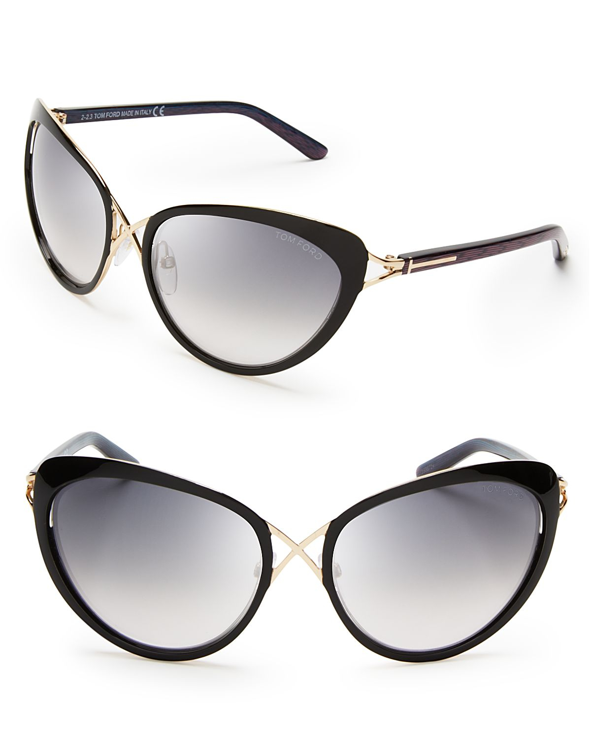 tom ford daria cat eye sunglasses in black lyst. Cars Review. Best American Auto & Cars Review