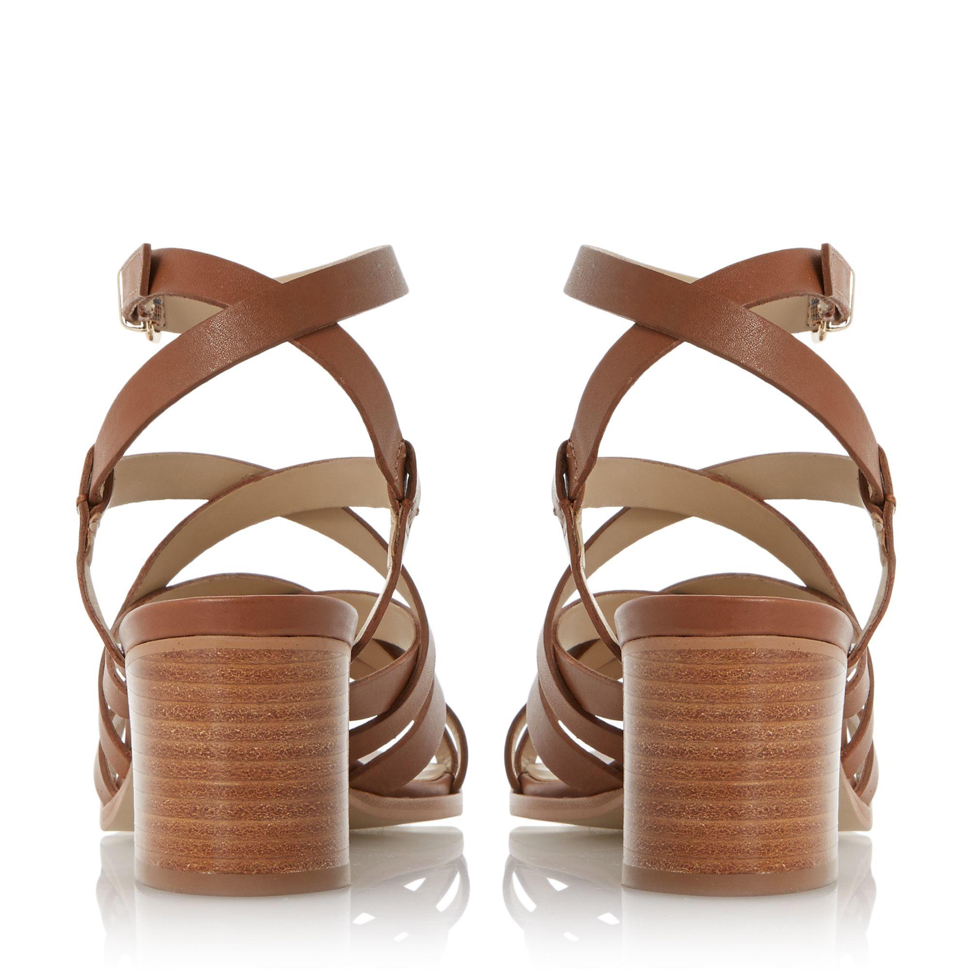 Brown Strappy Sandals Heels - Qu Heel