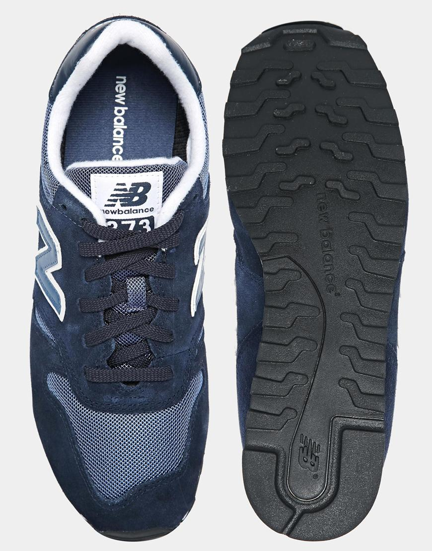 new balance 373 men navy blue and red