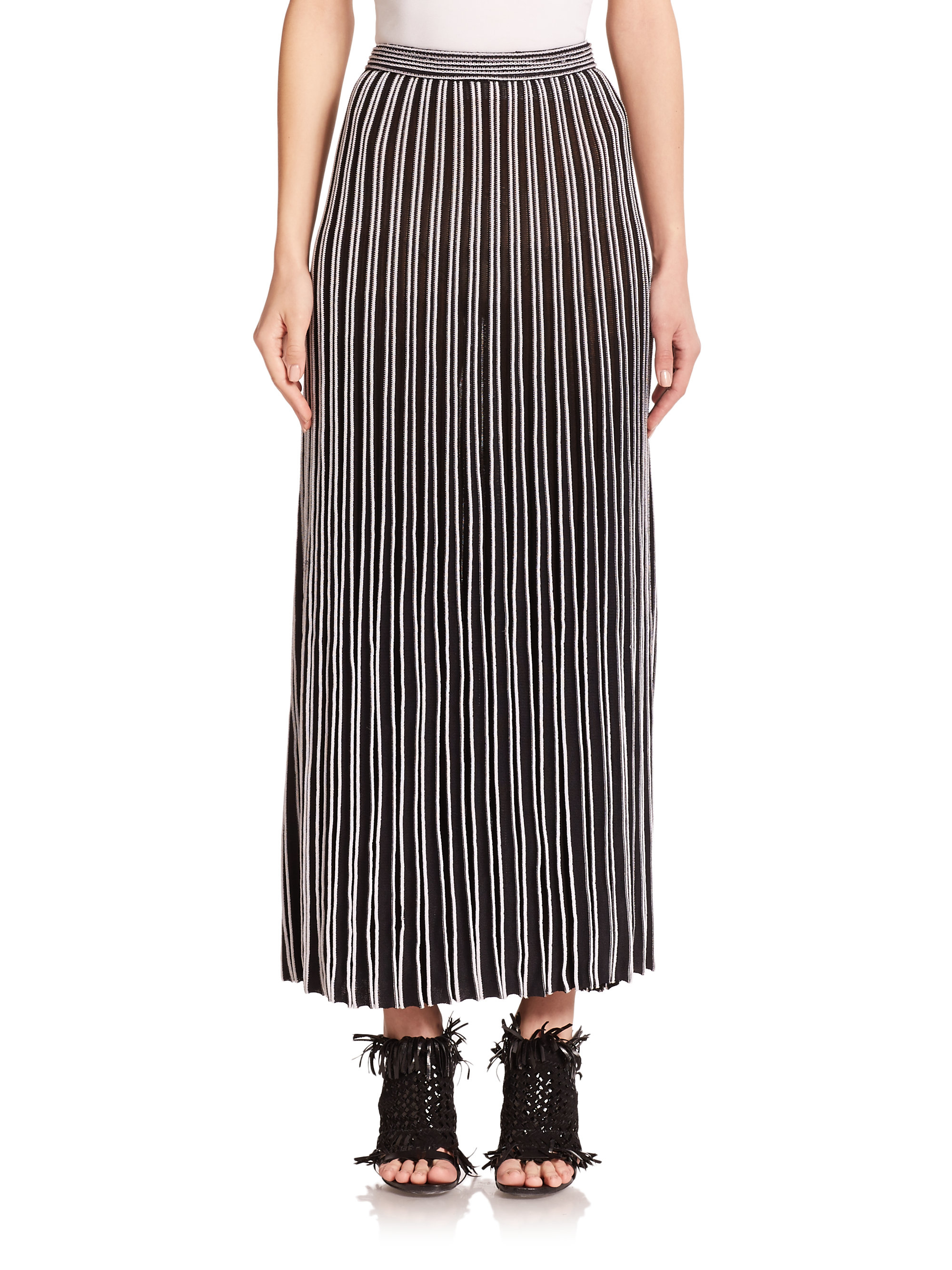 proenza schouler pleated knit skirt in black lyst