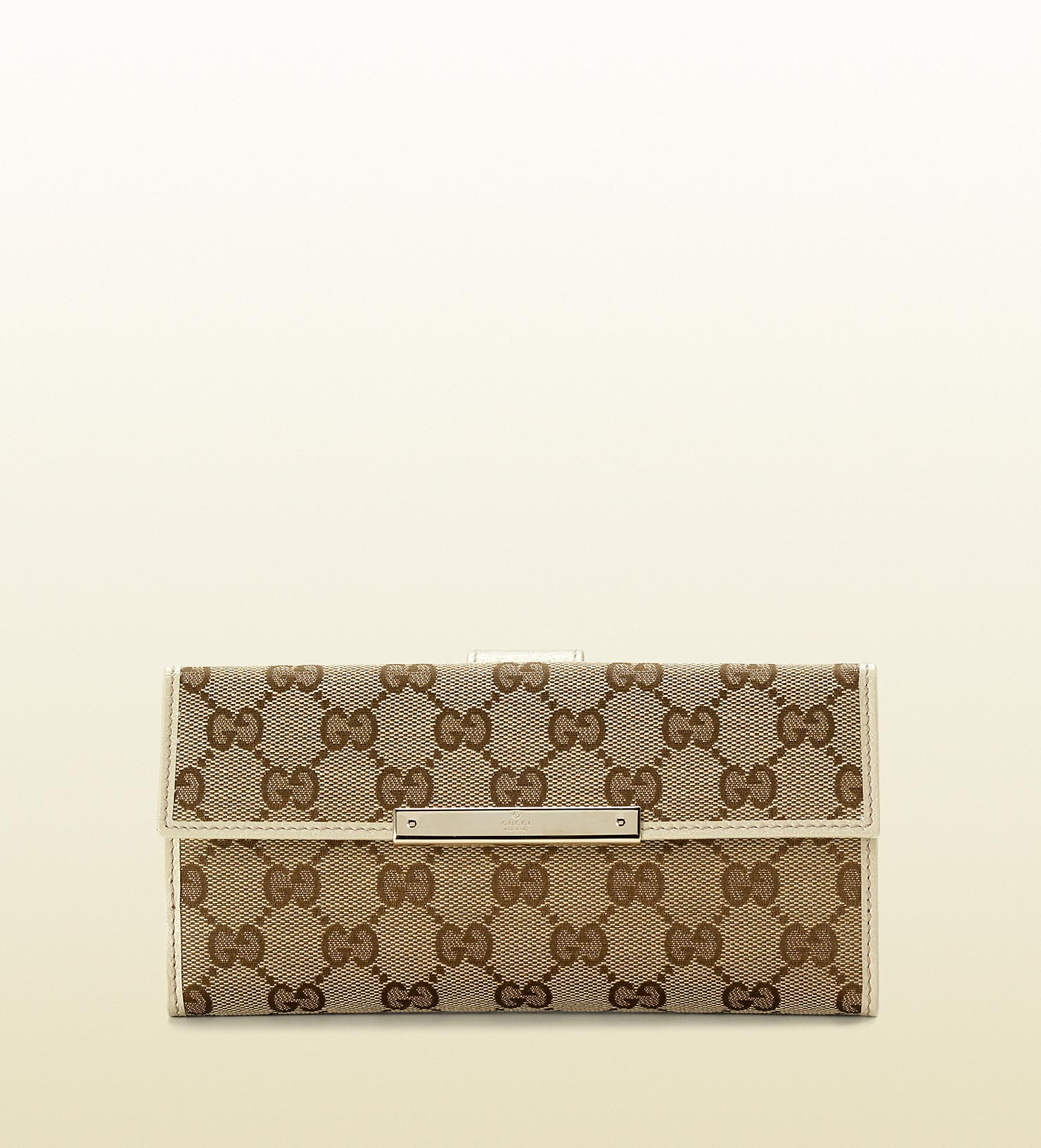 1a9a27cee3e Lyst - Gucci Continental Wallet with Gucci Trademark Engraved Metal ...