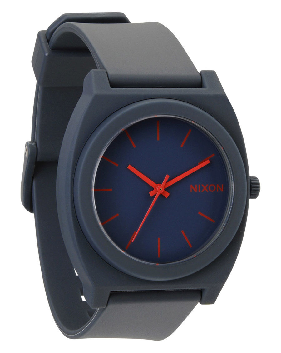 Nixon montre bleu marine mat time teller p in blue for men for Peinture bleu marine mat