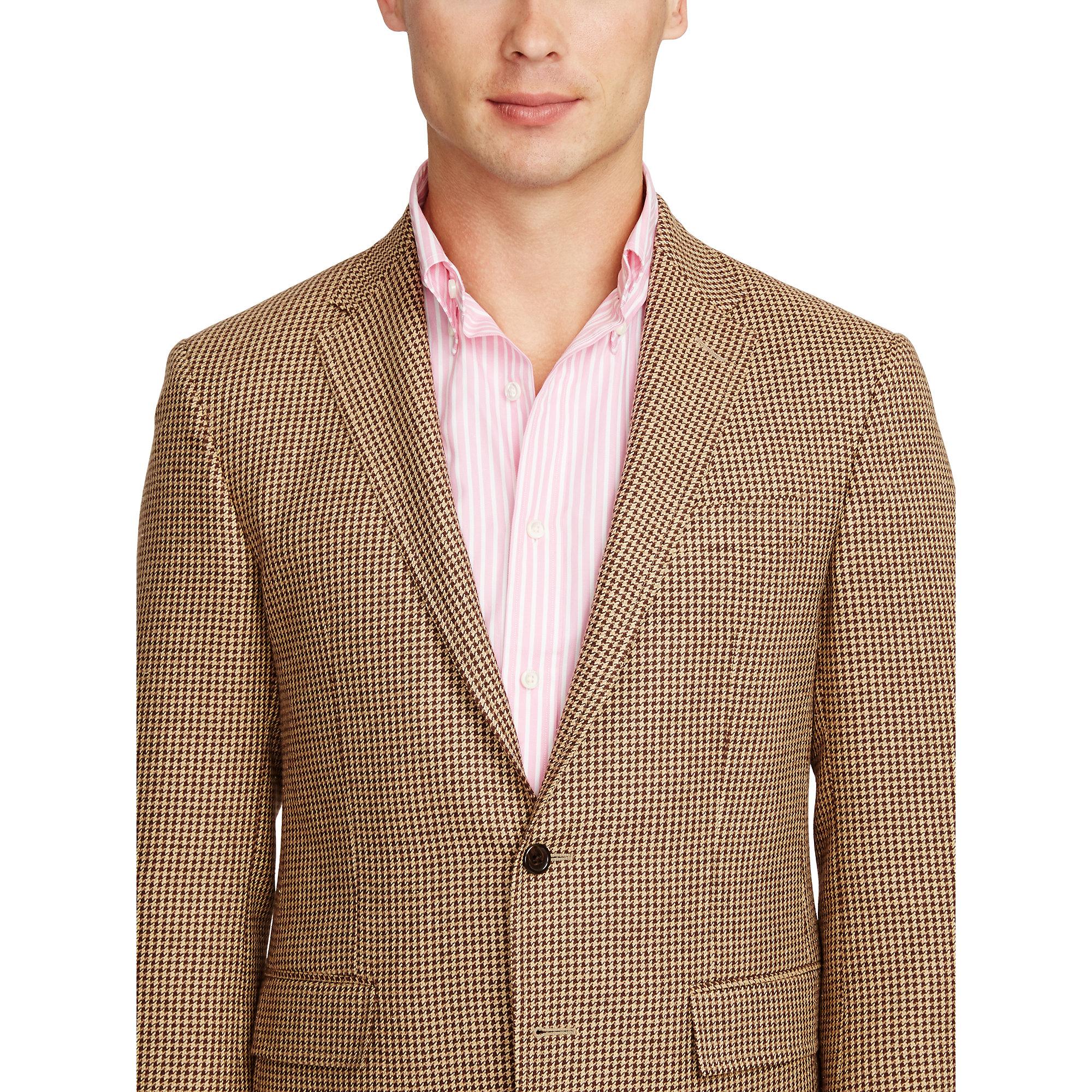 Polo ralph lauren Polo Houndstooth Sport Coat in Brown for Men | Lyst