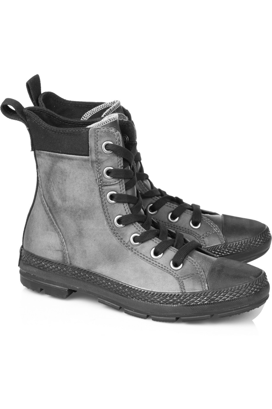 3b7a7a5e94a2 Converse Chuck Taylor Sargent Leather High-top Sneakers in Gray - Lyst