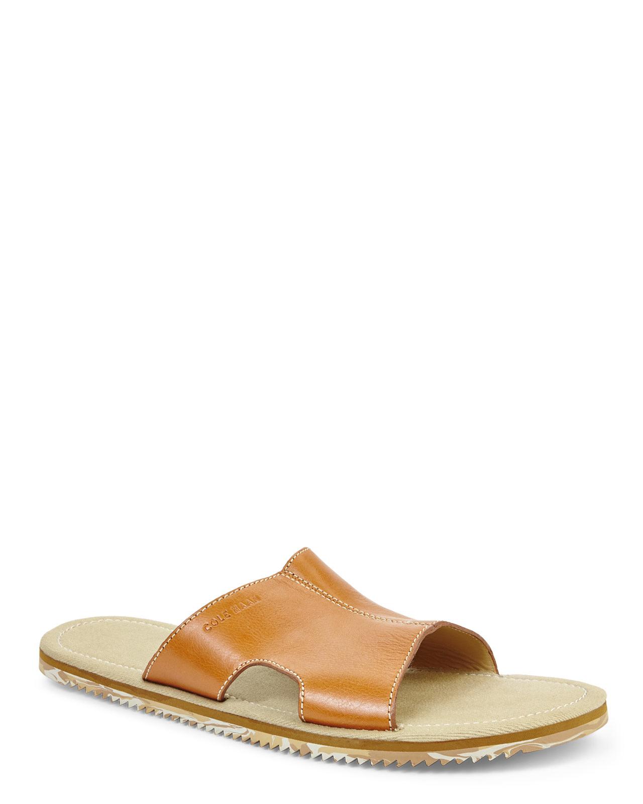 Cole Haan Meyer Slide- Tan sandals