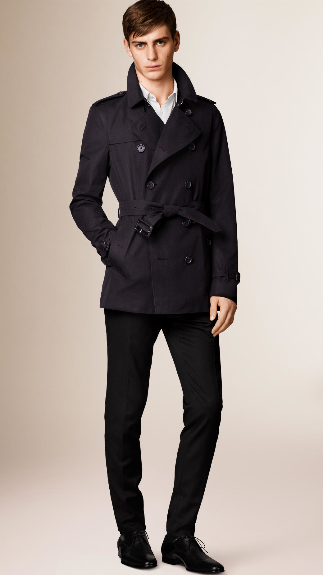 Burberry The Kensington - Short Heritage Trench Coat in Blue for ...