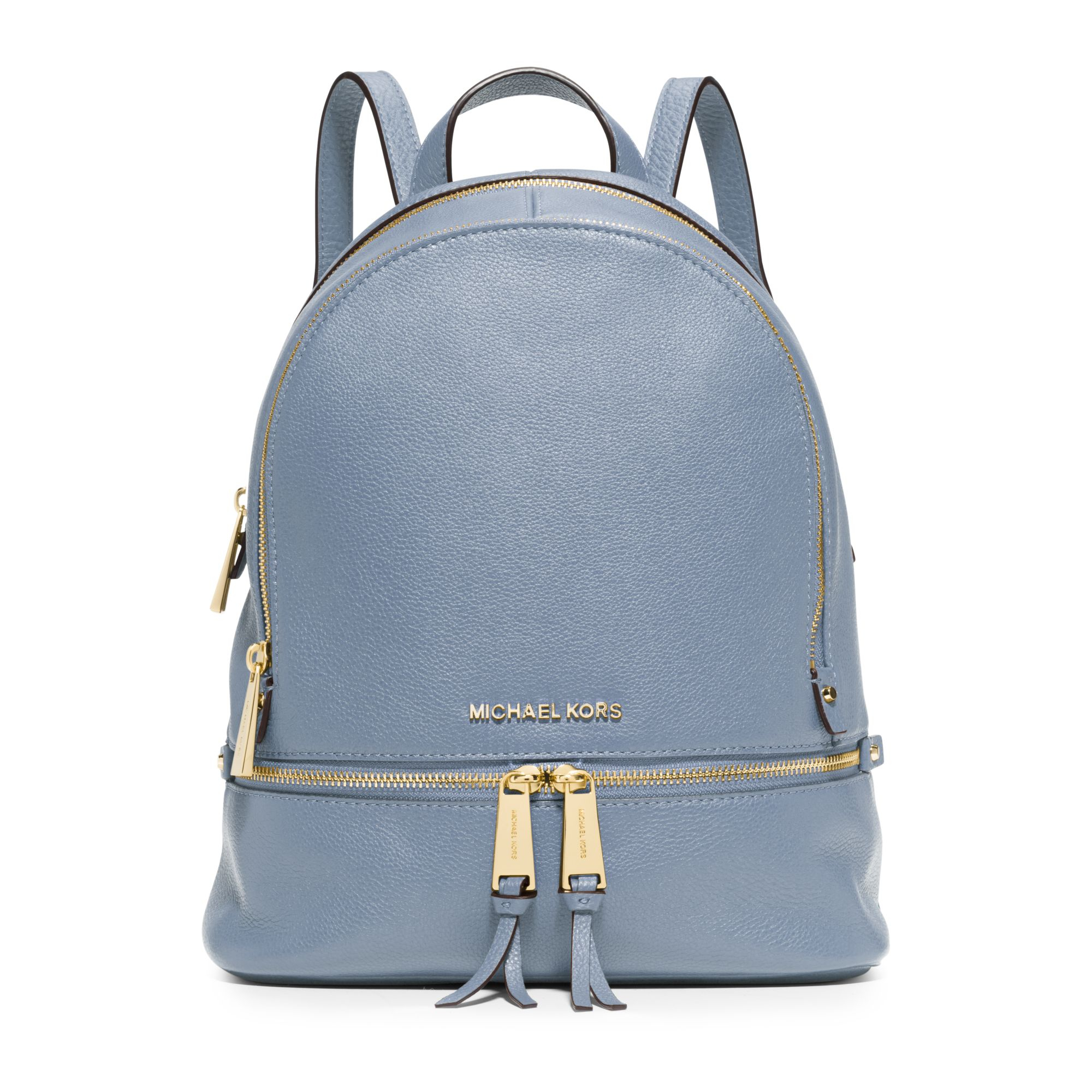 michael kors rhea small leather backpack in blue lyst. Black Bedroom Furniture Sets. Home Design Ideas