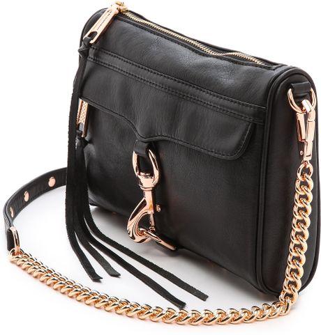 Black Handbag: Black Handbag With Rose Gold