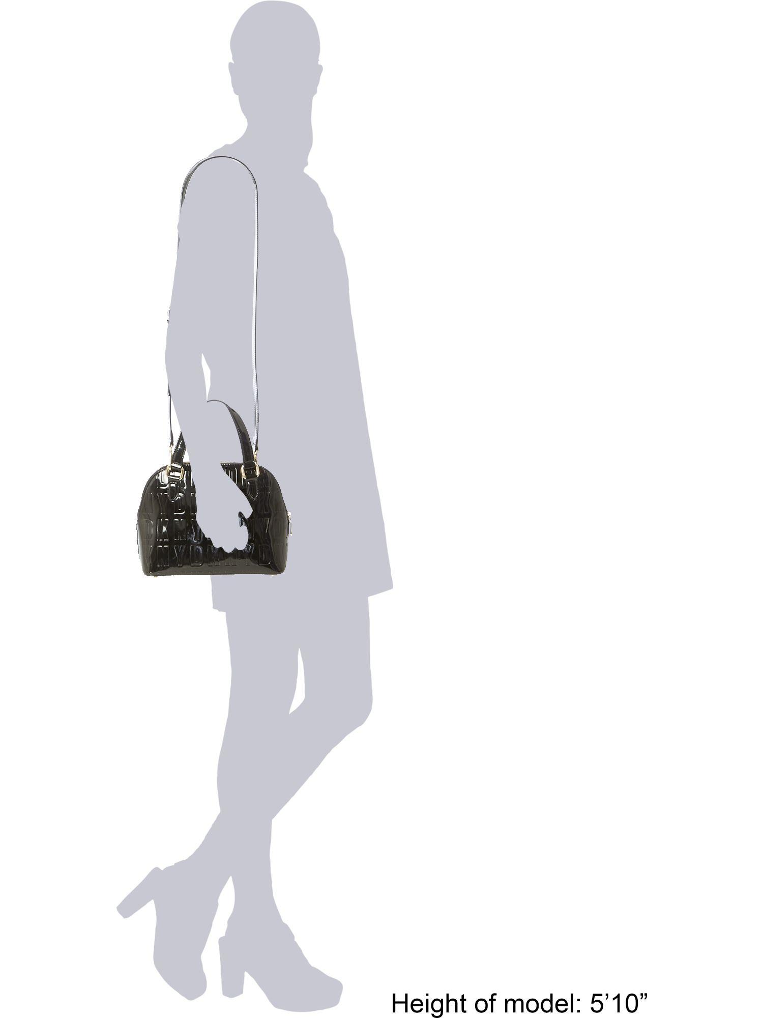 Dkny Embossed Patent Street Black Mini Satchel Bag in Black | Lyst