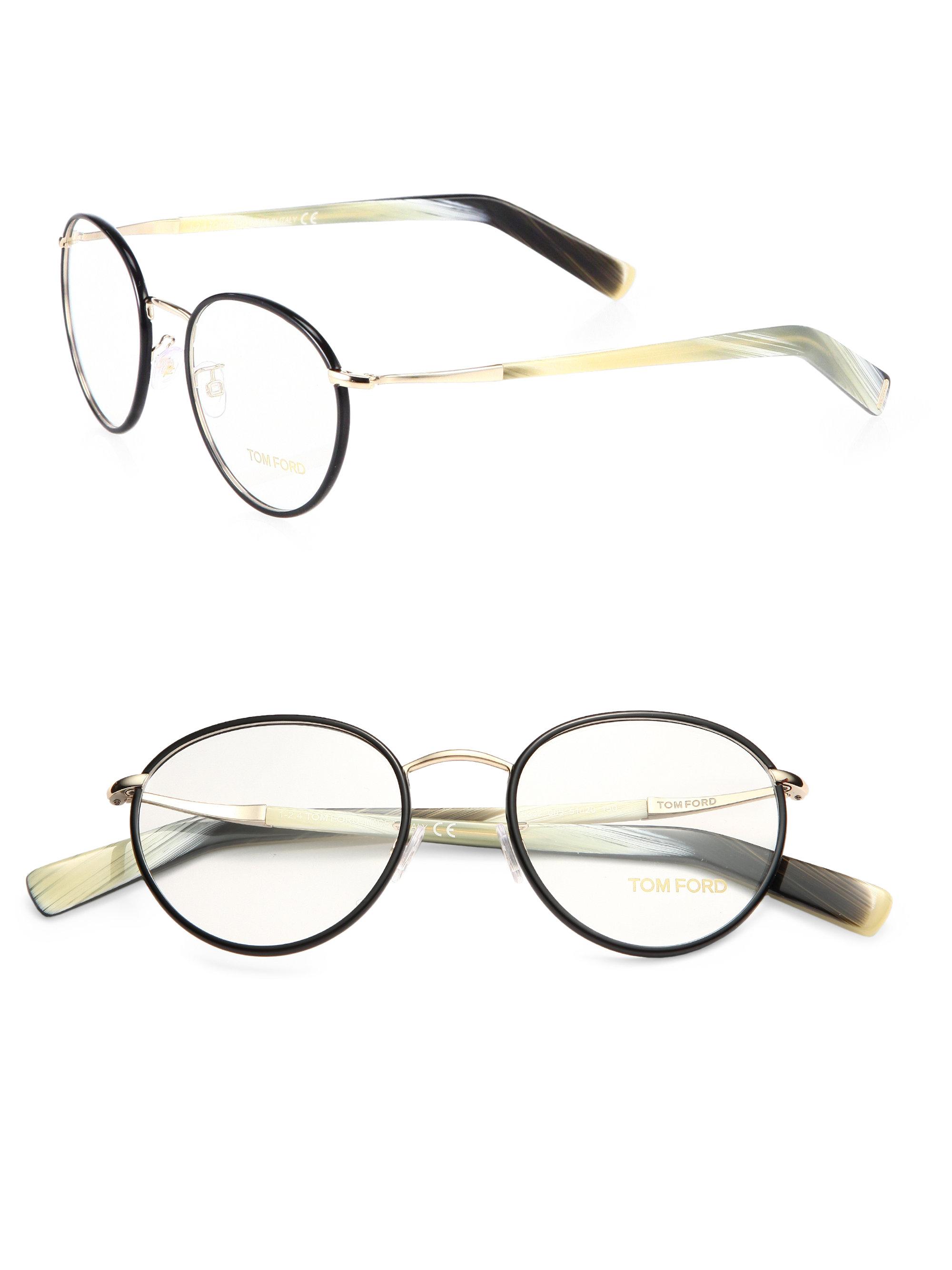 052668f880 Tom Ford Round Optical Frames in Black for Men - Lyst