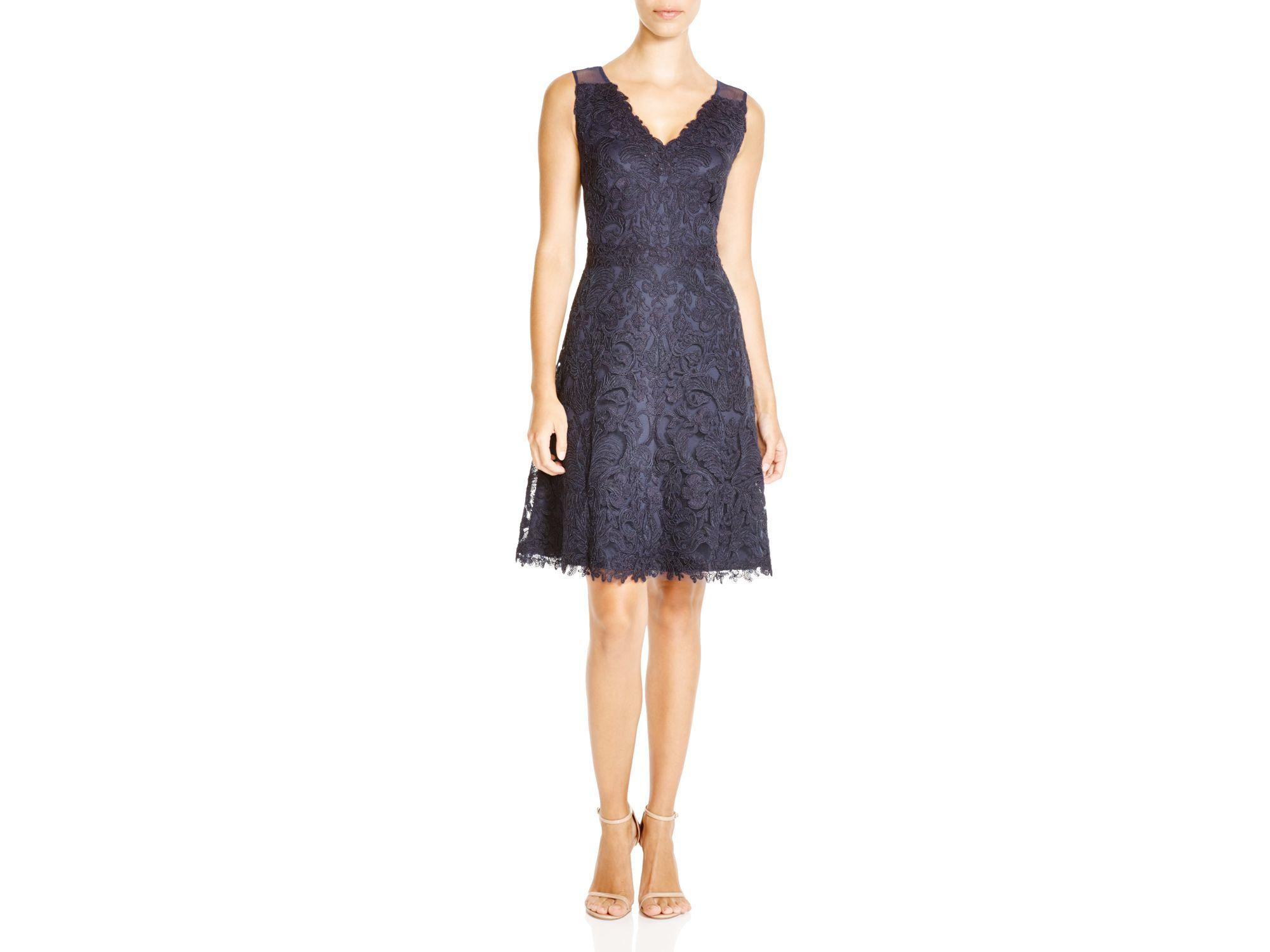 5e3d37775b9 Tadashi Shoji Petites Sleeveless Lace Fit And Flare Dress - 100 ...