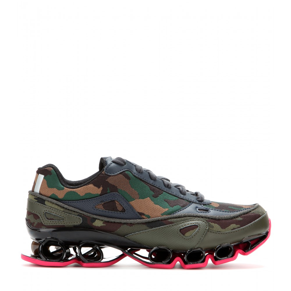 Adidas by raf simons Bounce Camouflage Jacquard Sneakers ...