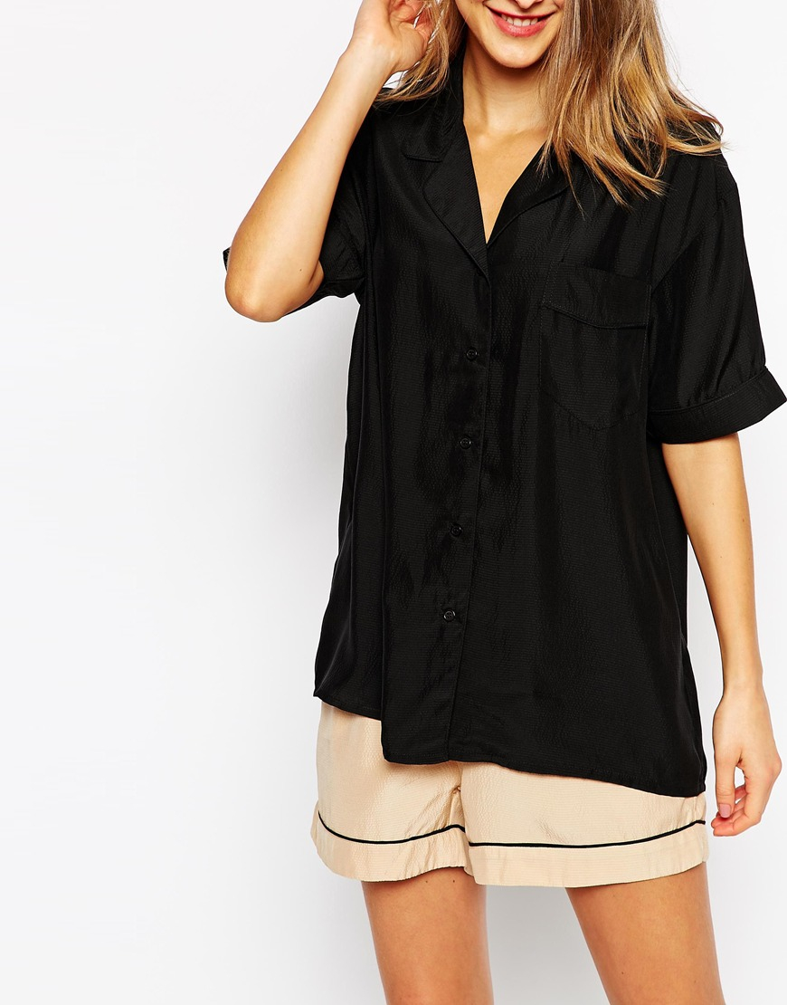3c43d262305523 Womens Short Sleeve Silk Shirt | Toffee Art