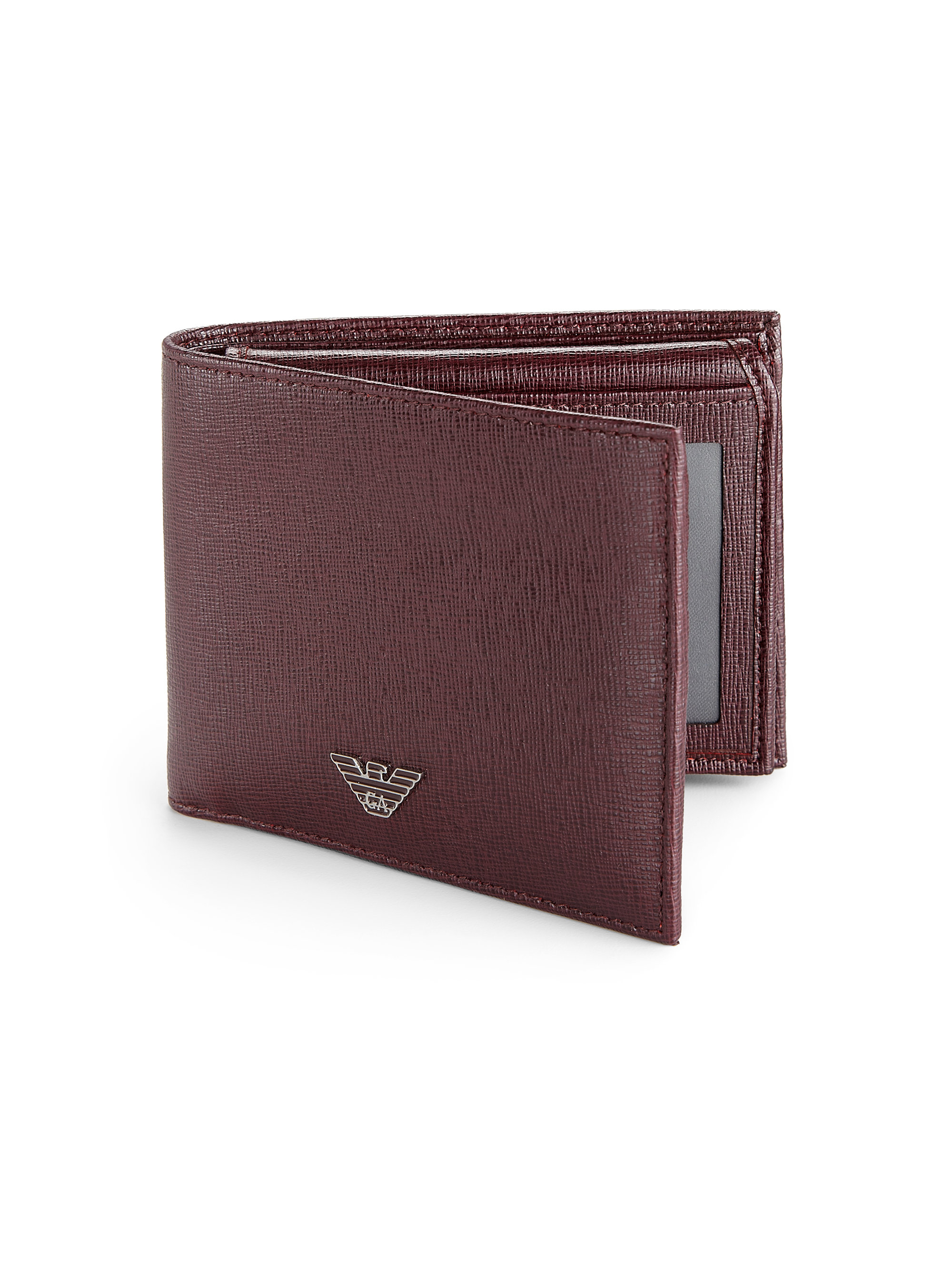 cac3a27bf9 Lyst - Emporio Armani Leather Id Wallet in Red for Men