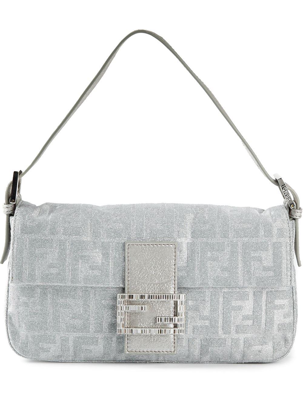Fendi Baguette Shoulder Bag in Gray