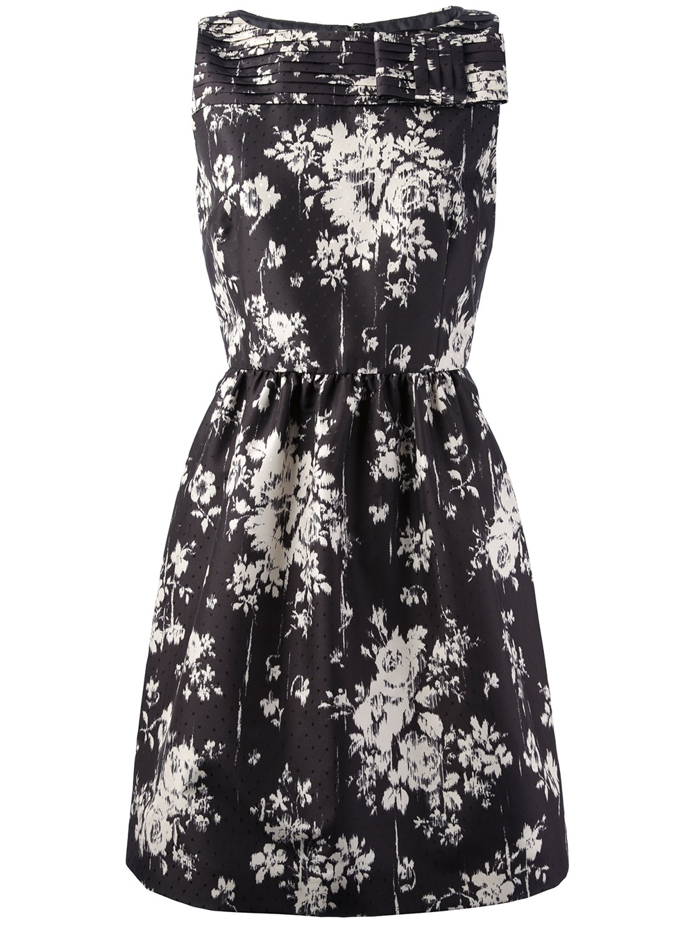 Lyst Red Valentino Sleeveless Floral Dress In Black