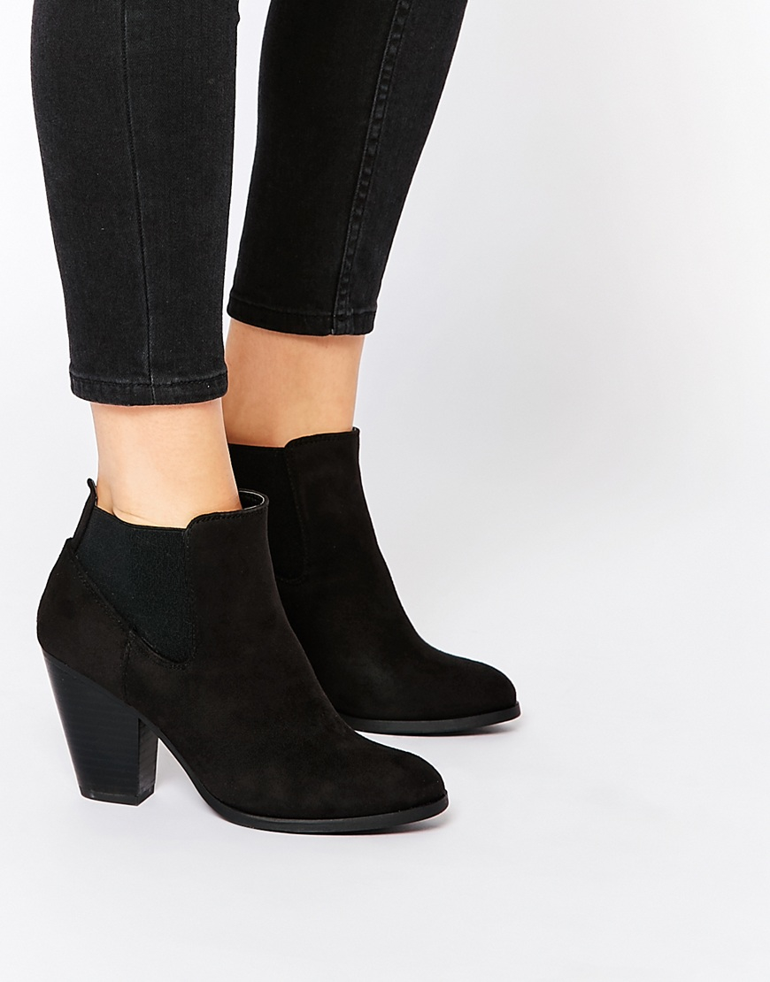 Call it spring Hudia Western Black Heeled Boots in Black | Lyst