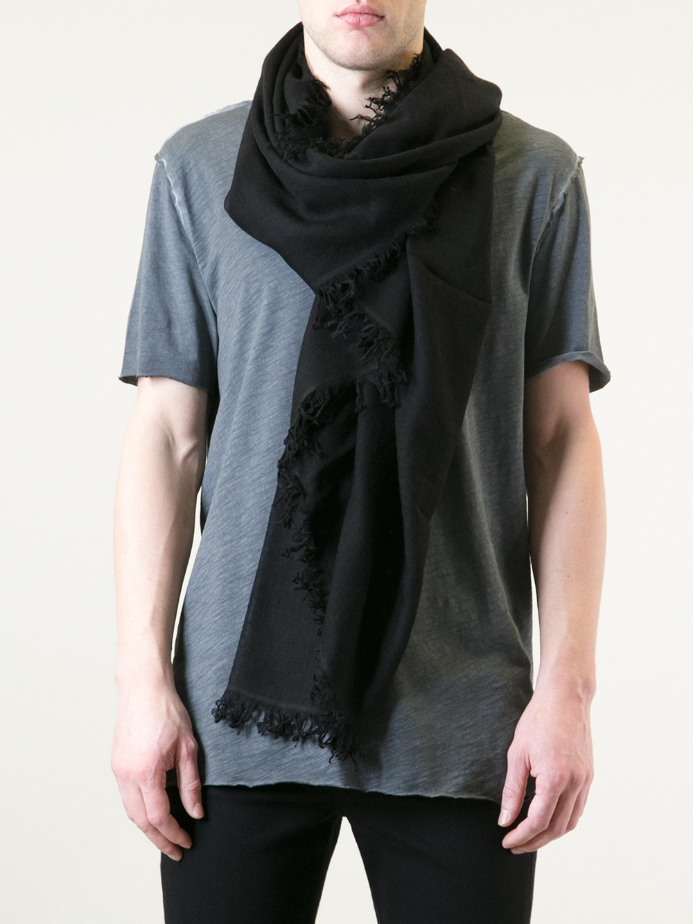demeulemeester pashmina scarf in black for lyst