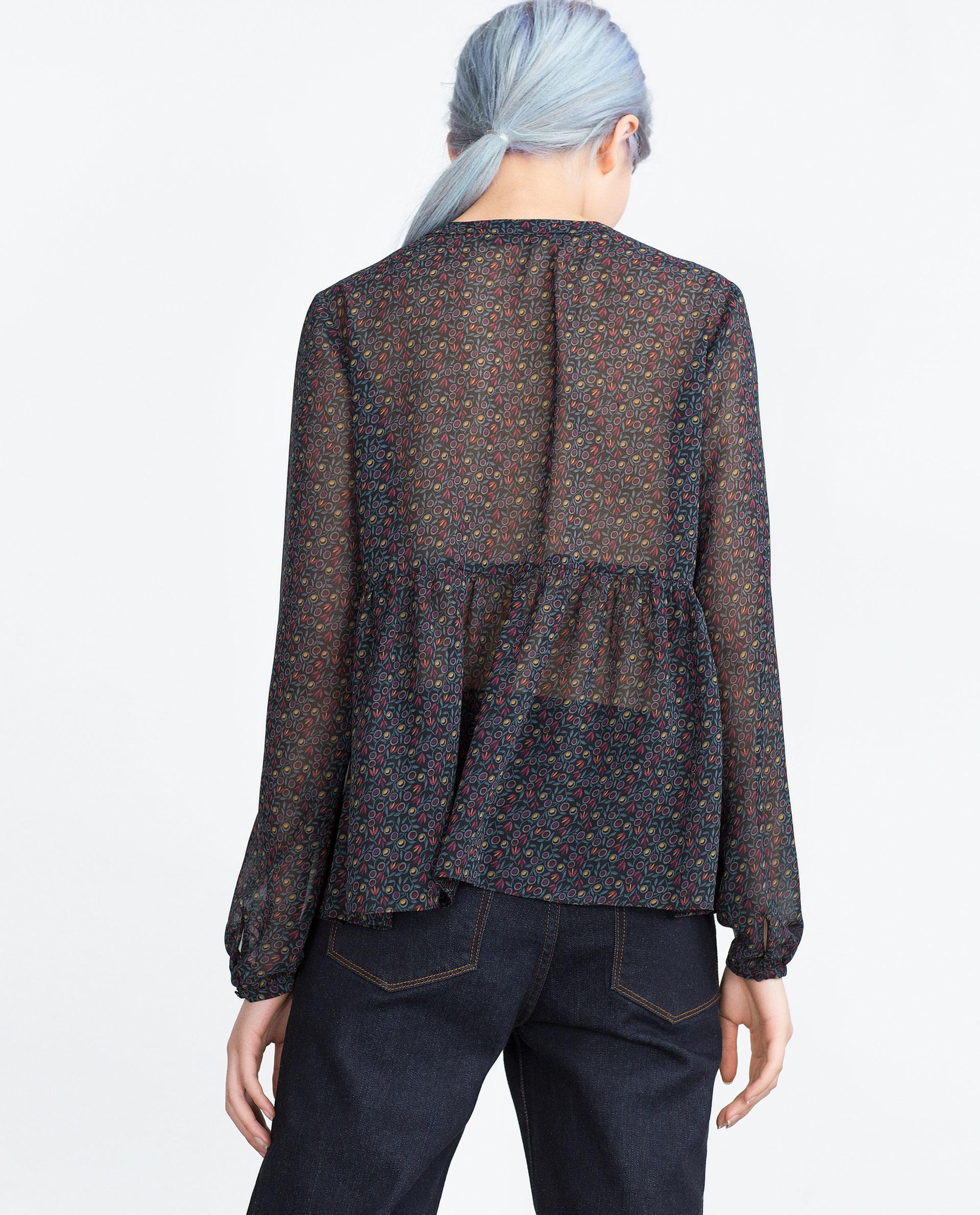 Zara Printed Chiffon Blouse 115