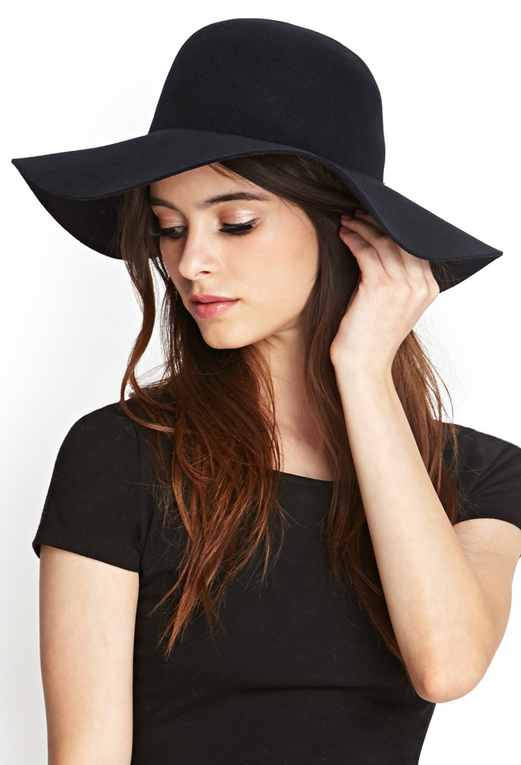 Forever 21 Classic Wool Floppy Hat in Blue - Lyst fbdc482675a
