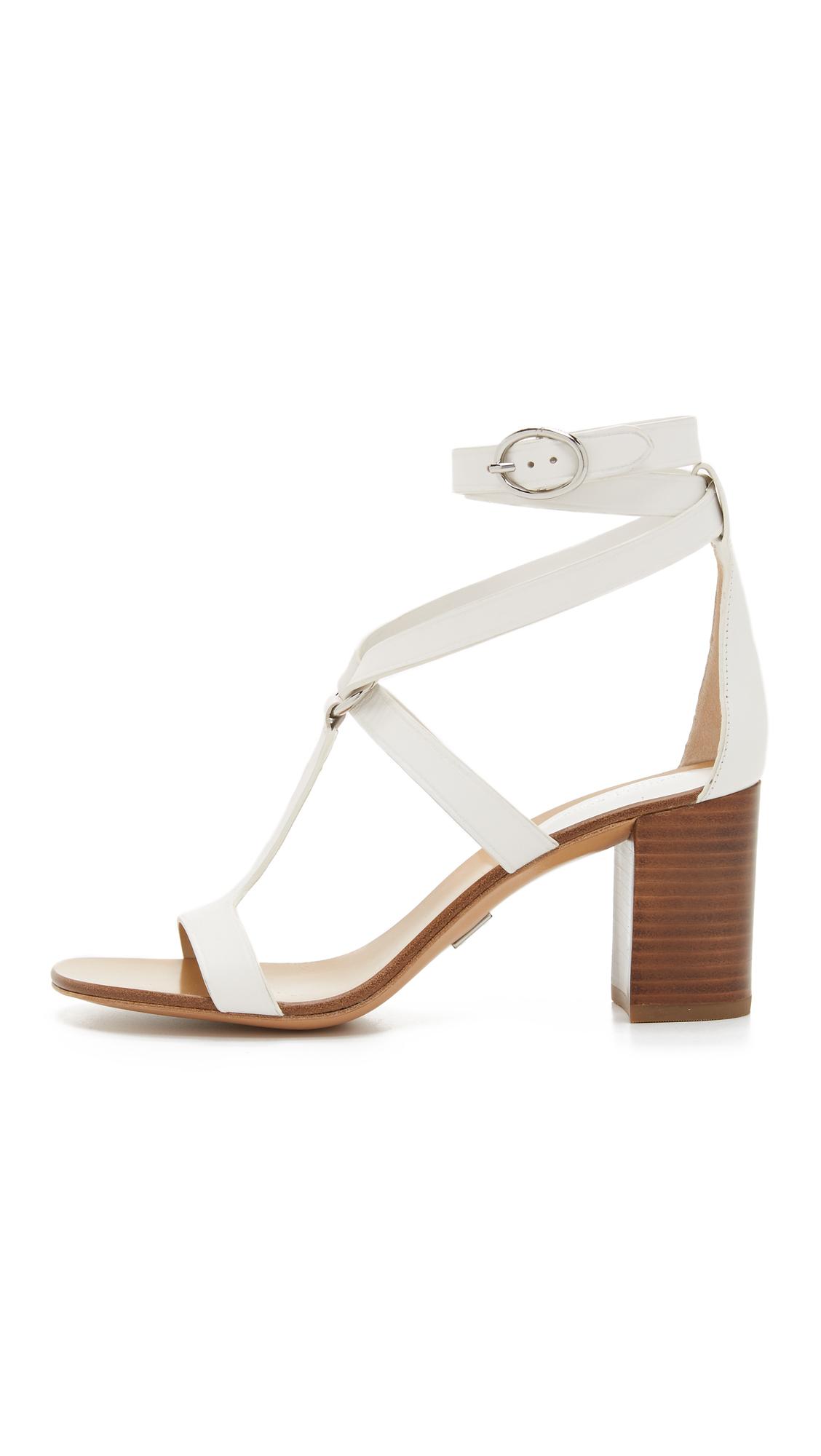 michael kors ellison city sandals in white lyst