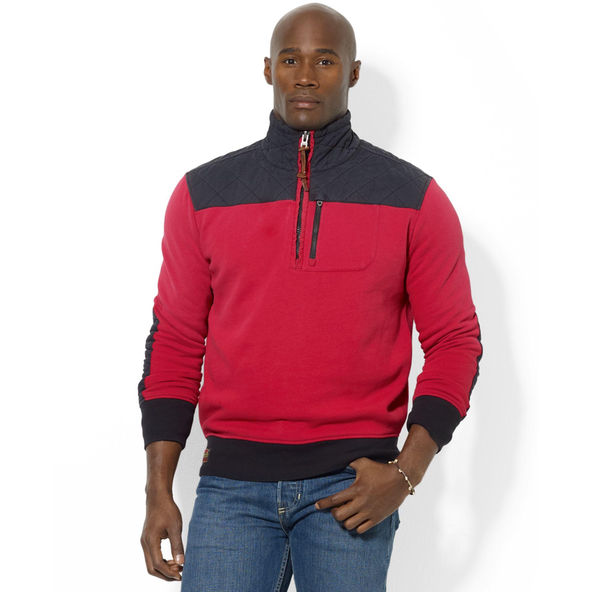 Ralph Lauren Compact Fleece Half Zip Mock Neck Jacket in