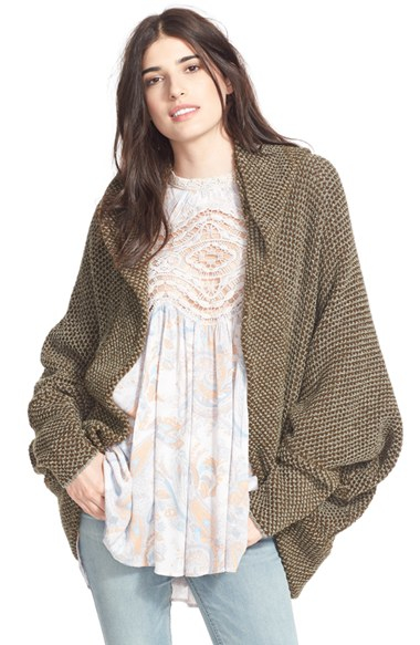 Lyst Free People Cocoon Knit Cardigan In Natural