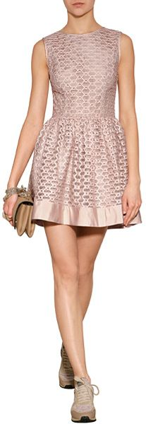 Red Valentino Fit And Flare Dress In Red Lyst