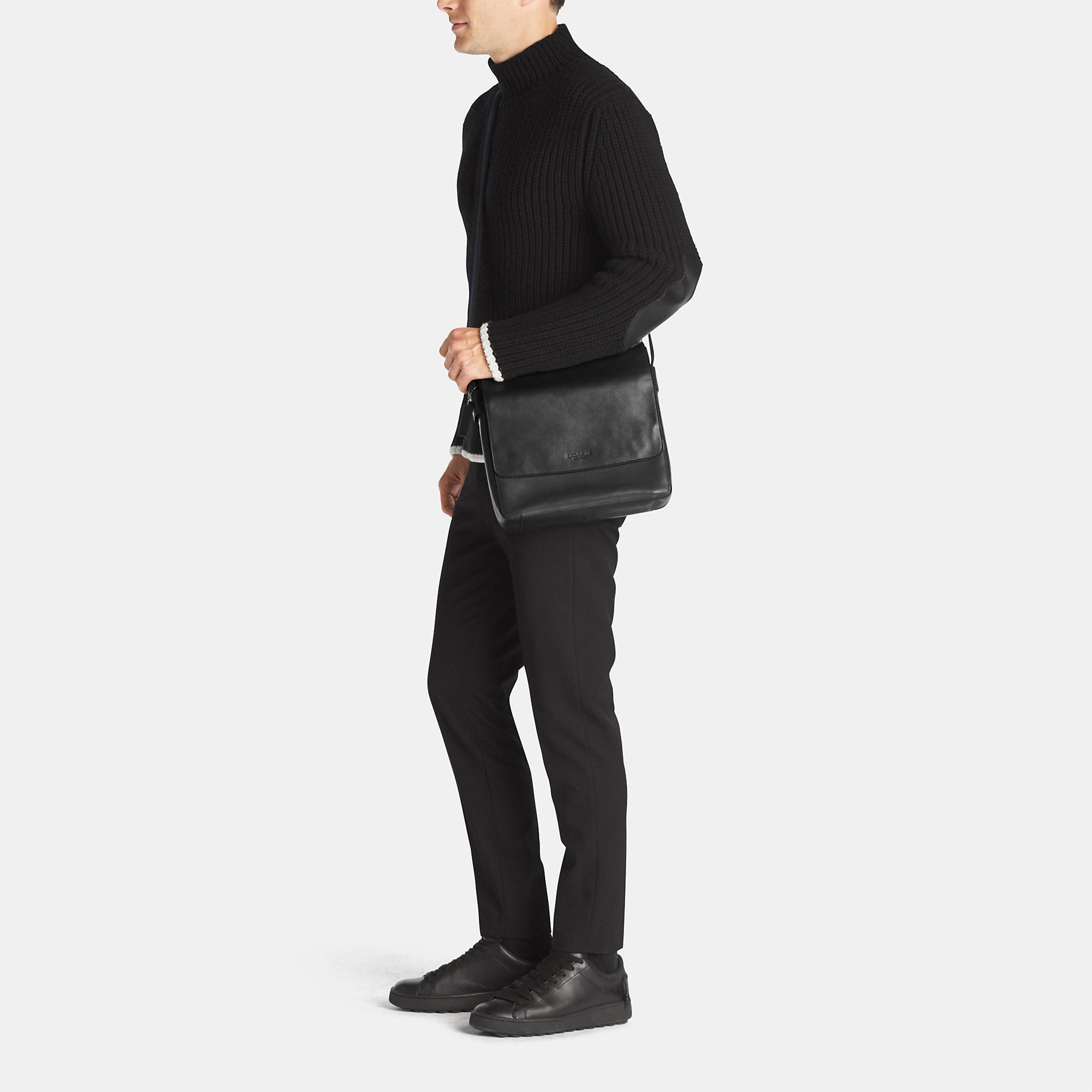 8bb2417ef COACH Metropolitan Map Bag In Sport Calf Leather in Black for Men - Lyst