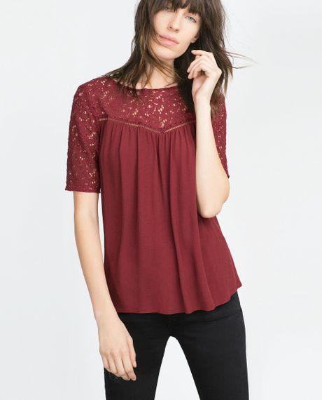 Zara Purple Blouse 8