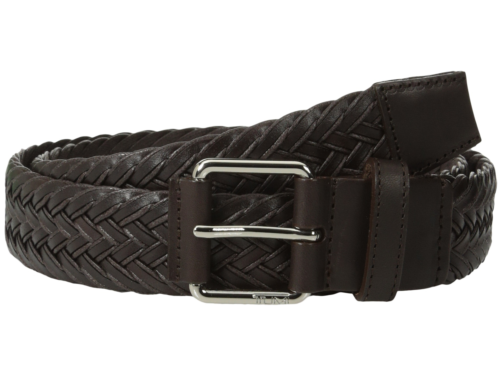 This intricately braided belt is woven with elastic cords to provide a bit of give, while Italian vachetta leather ends give it a refined finish. 1¼