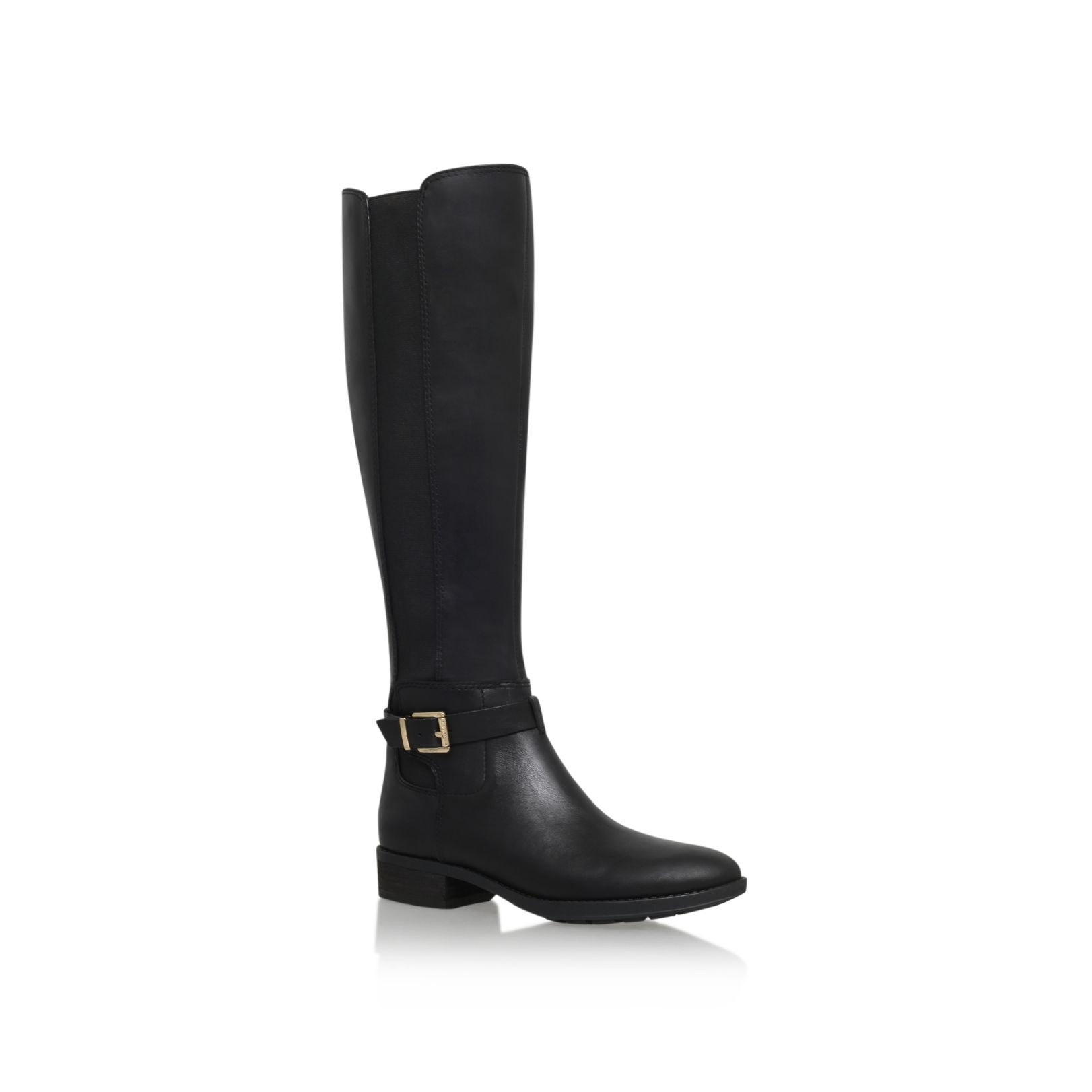 vince camuto pipper low heel knee boots in black lyst